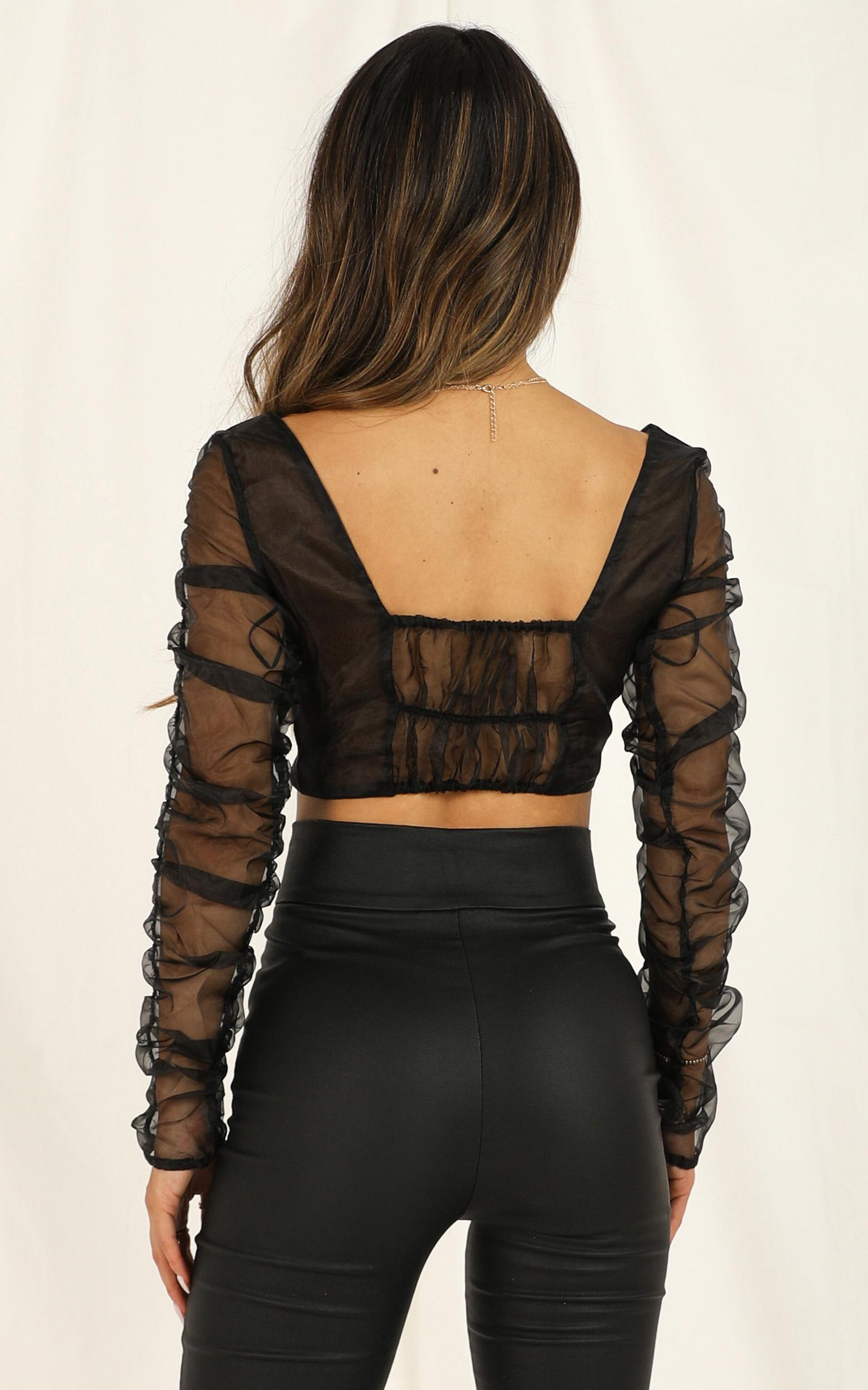 Lioness - Sweet And Selfish Top In Black - 12 (L), Black, hi-res image number null