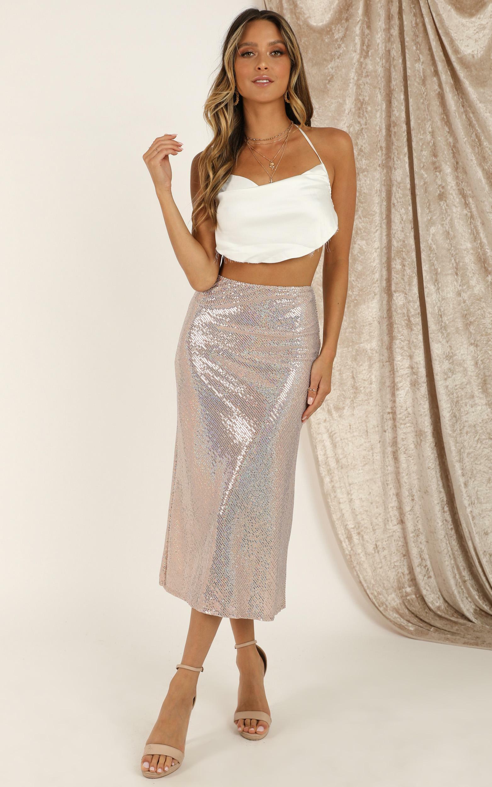 Unfailing Love skirt in blush - 12 (L), Blush, hi-res image number null