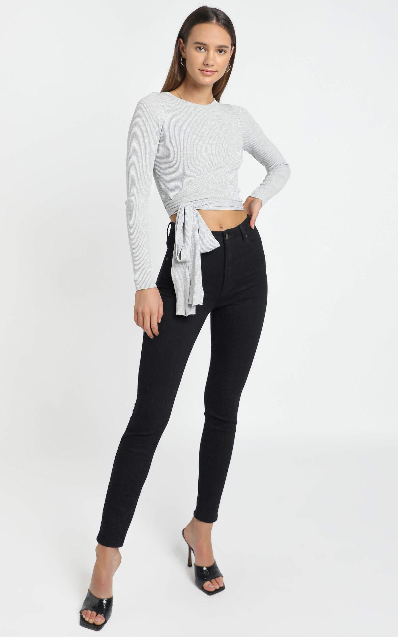 Malik Knit Top in Grey - M/L, Grey, hi-res image number null