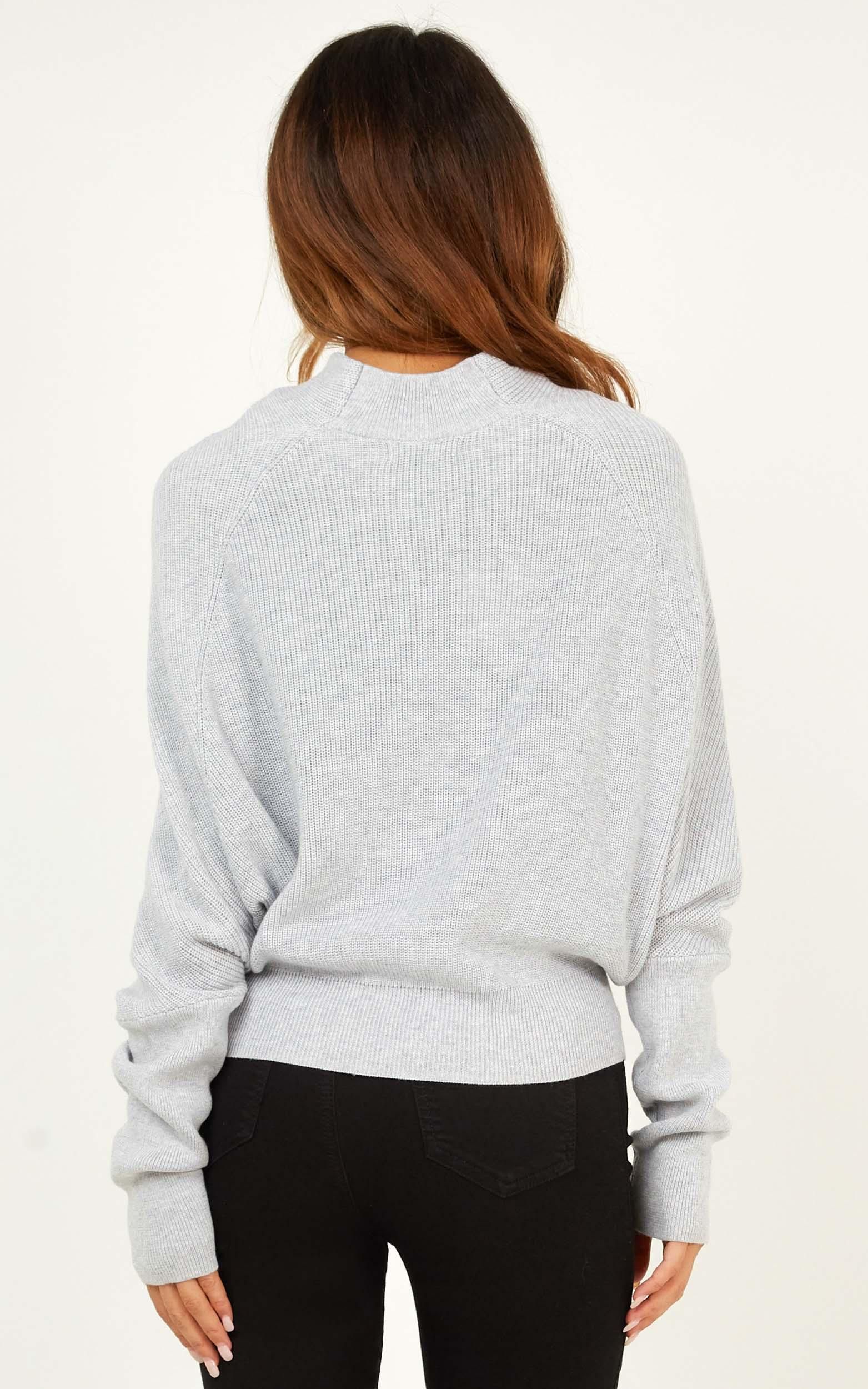It Might Be You knit jumper in grey - 12 (L), Grey, hi-res image number null