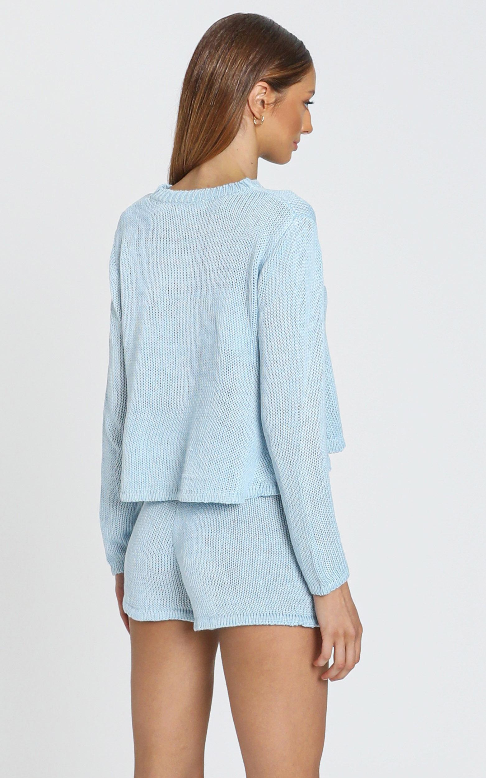 Lenka Knit two piece set in Blue - S, Blue, hi-res image number null