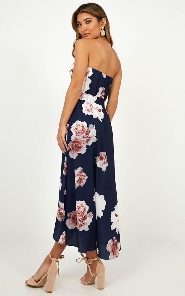Blue Lagoon Dress In Navy Floral - 14 (XL), Navy, hi-res image number null