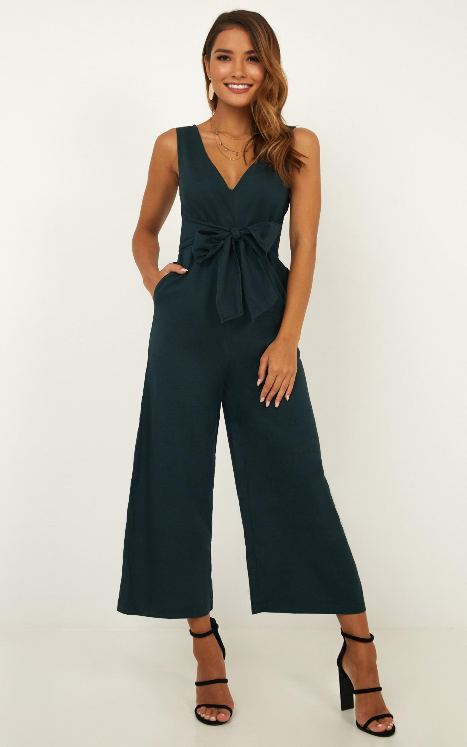 Run Free Jumpsuit in emerald - 20 (XXXXL), Green, hi-res image number null