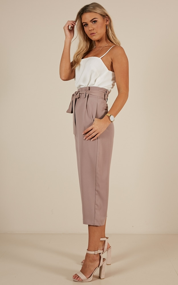 Cross That Bridge pants in Taupe - 4 (XXS), Taupe, hi-res image number null