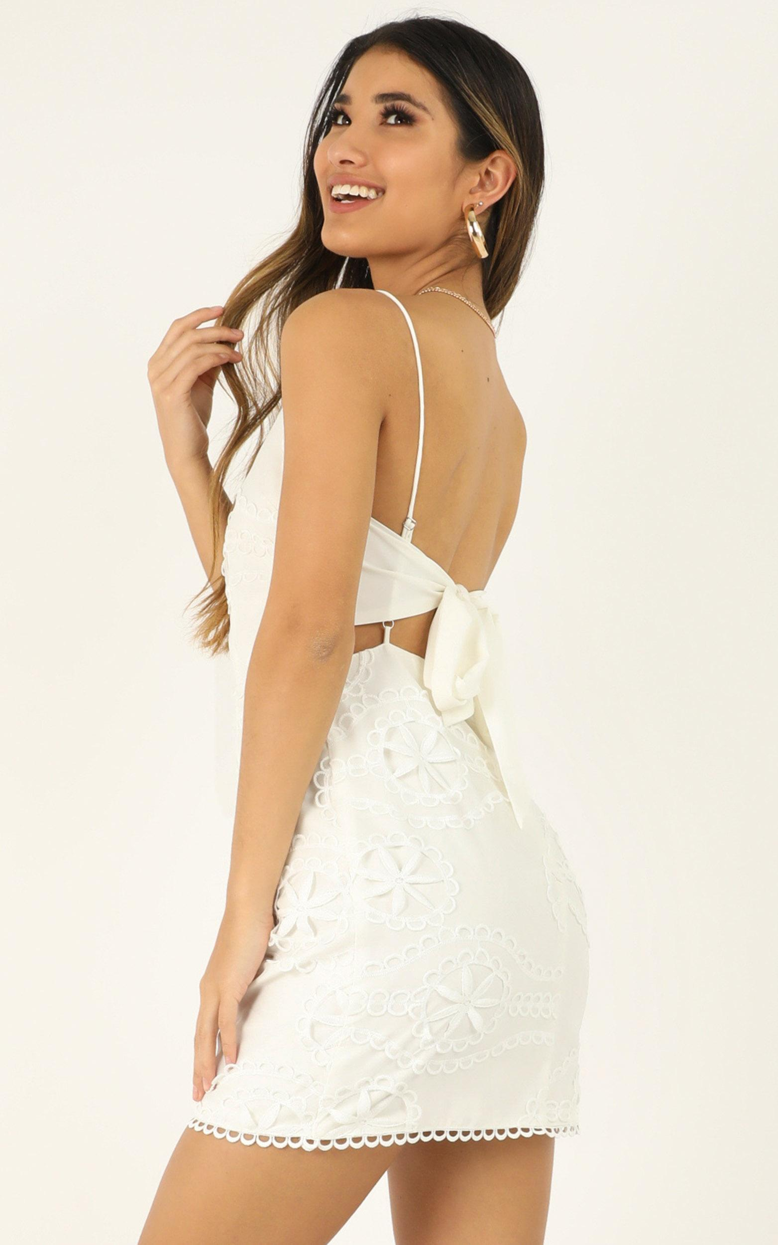 Daisy Vanilla dress in white embroidery - 20 (XXXXL), White, hi-res image number null