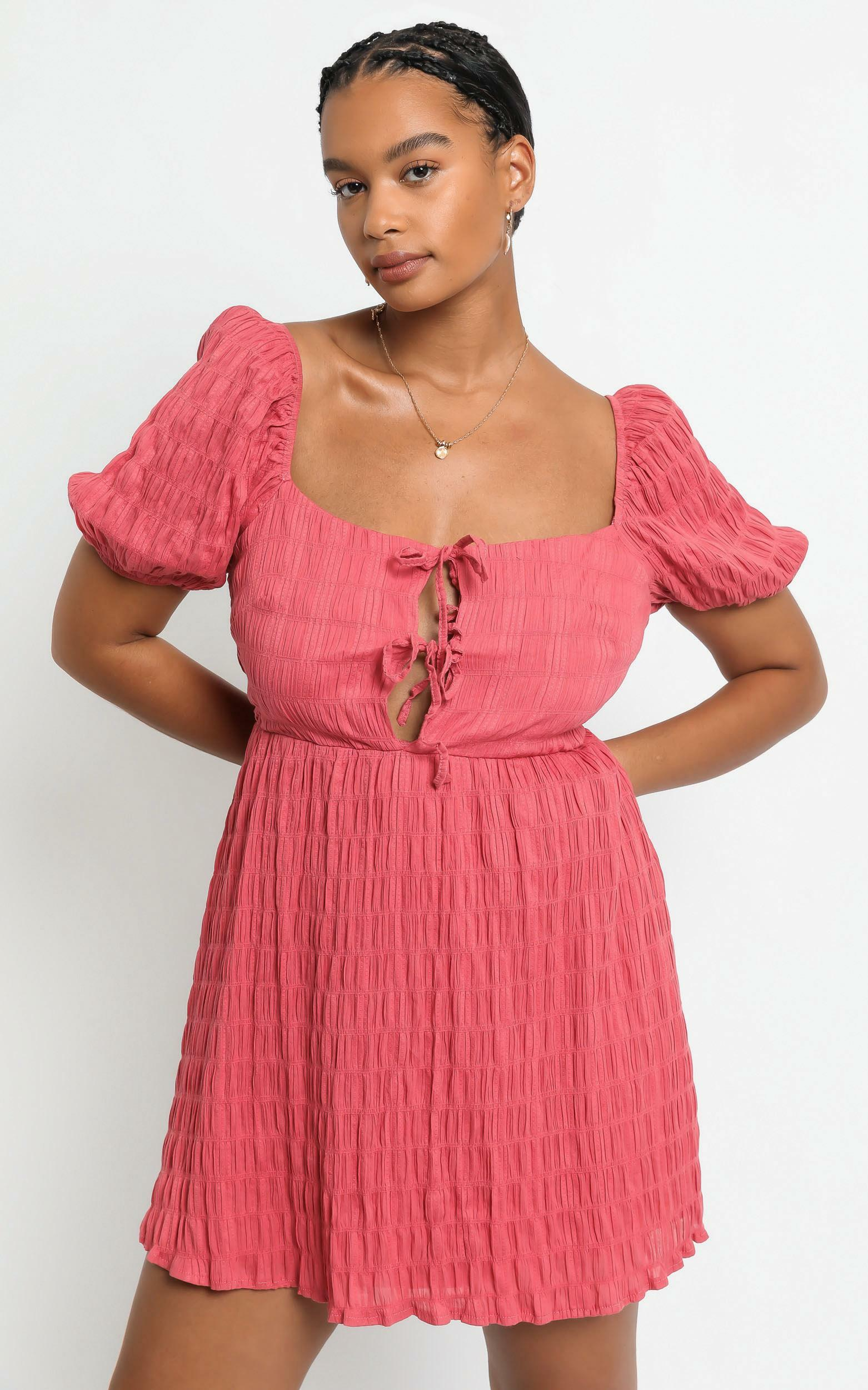 Mirabella Dress in  Watermelon - 6 (XS), RED1, hi-res image number null