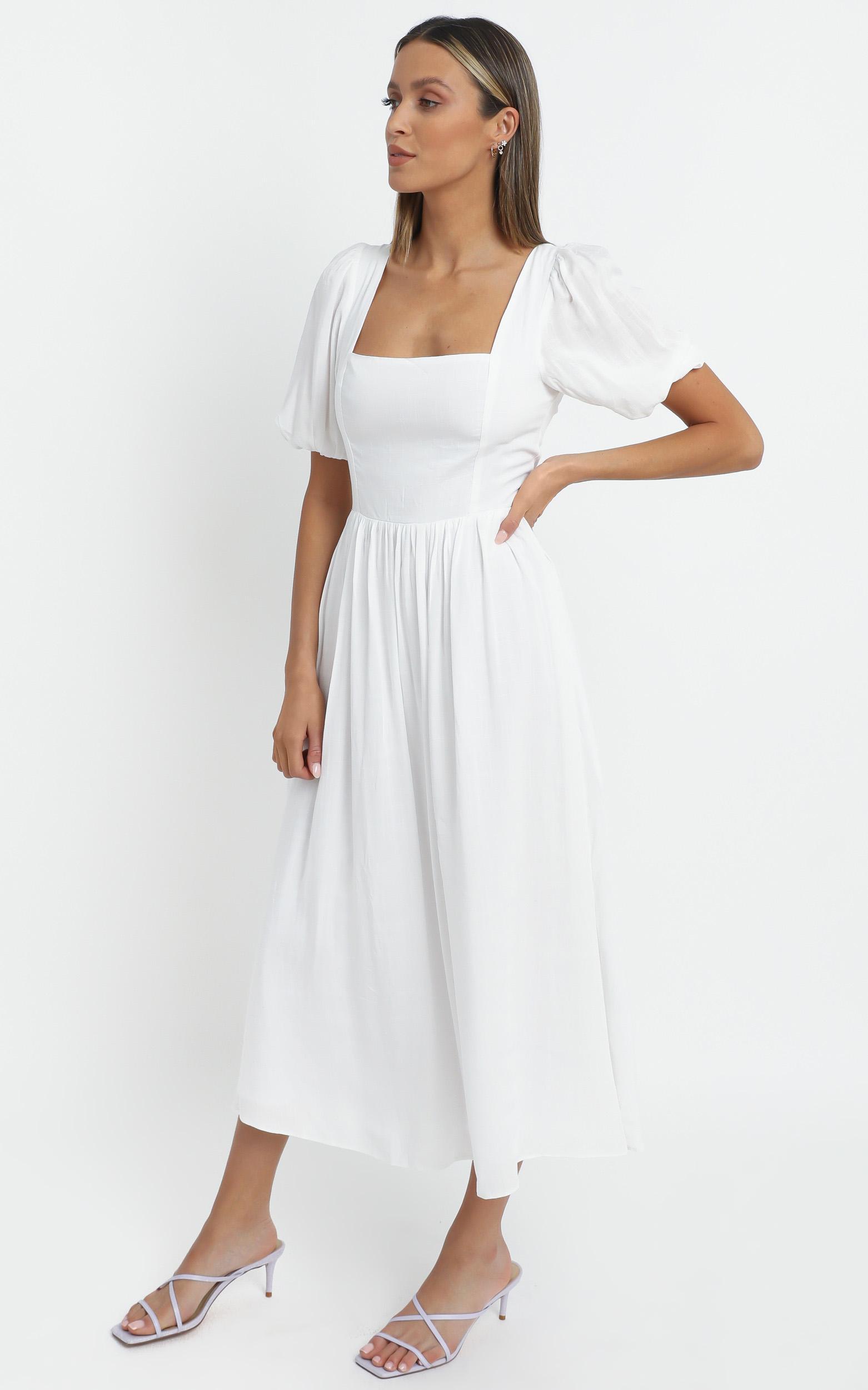 Poppy Dress in White - 14 (XL), White, hi-res image number null