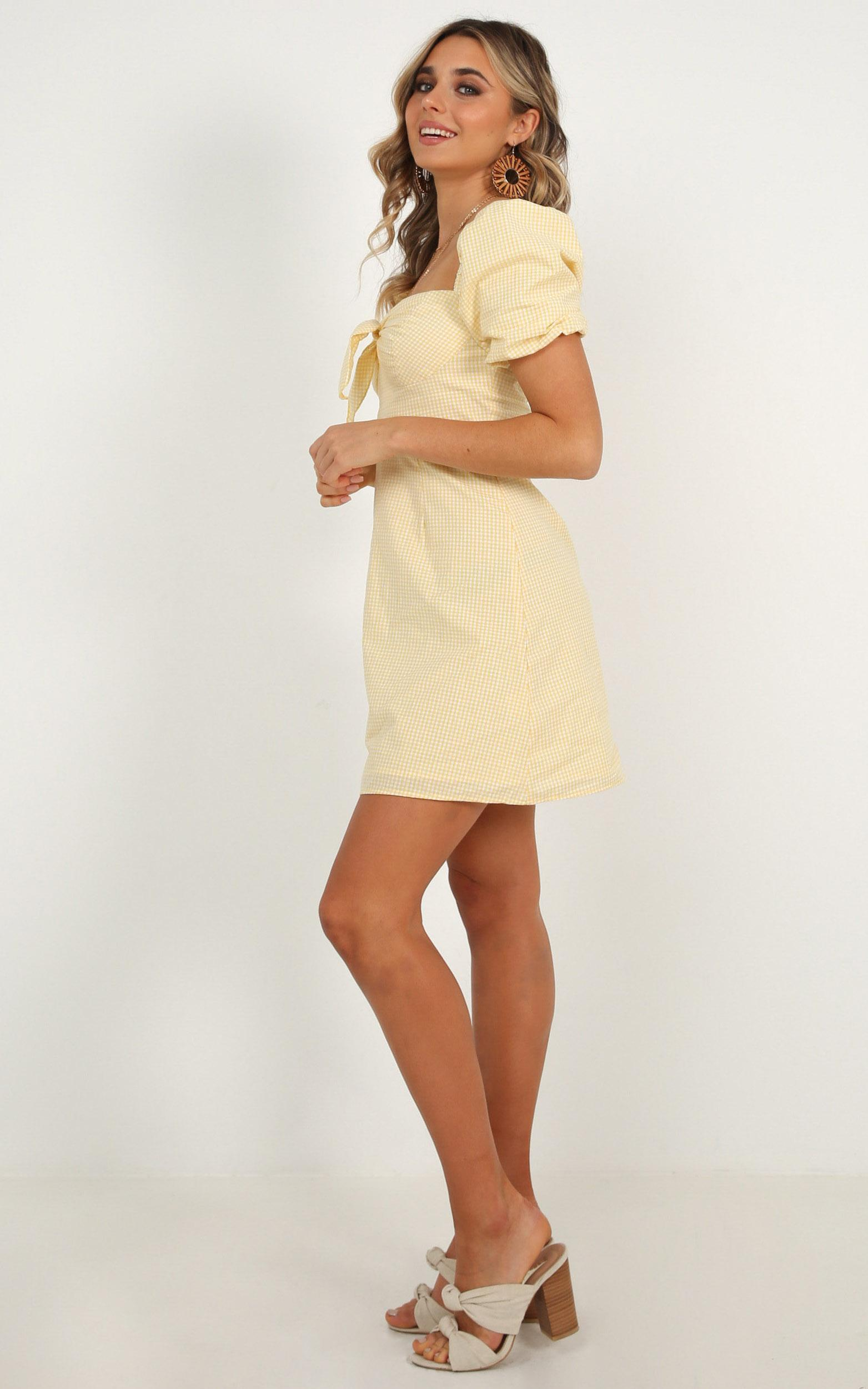 Destination  Love Dress in lemon - 20 (XXXXL), Yellow, hi-res image number null