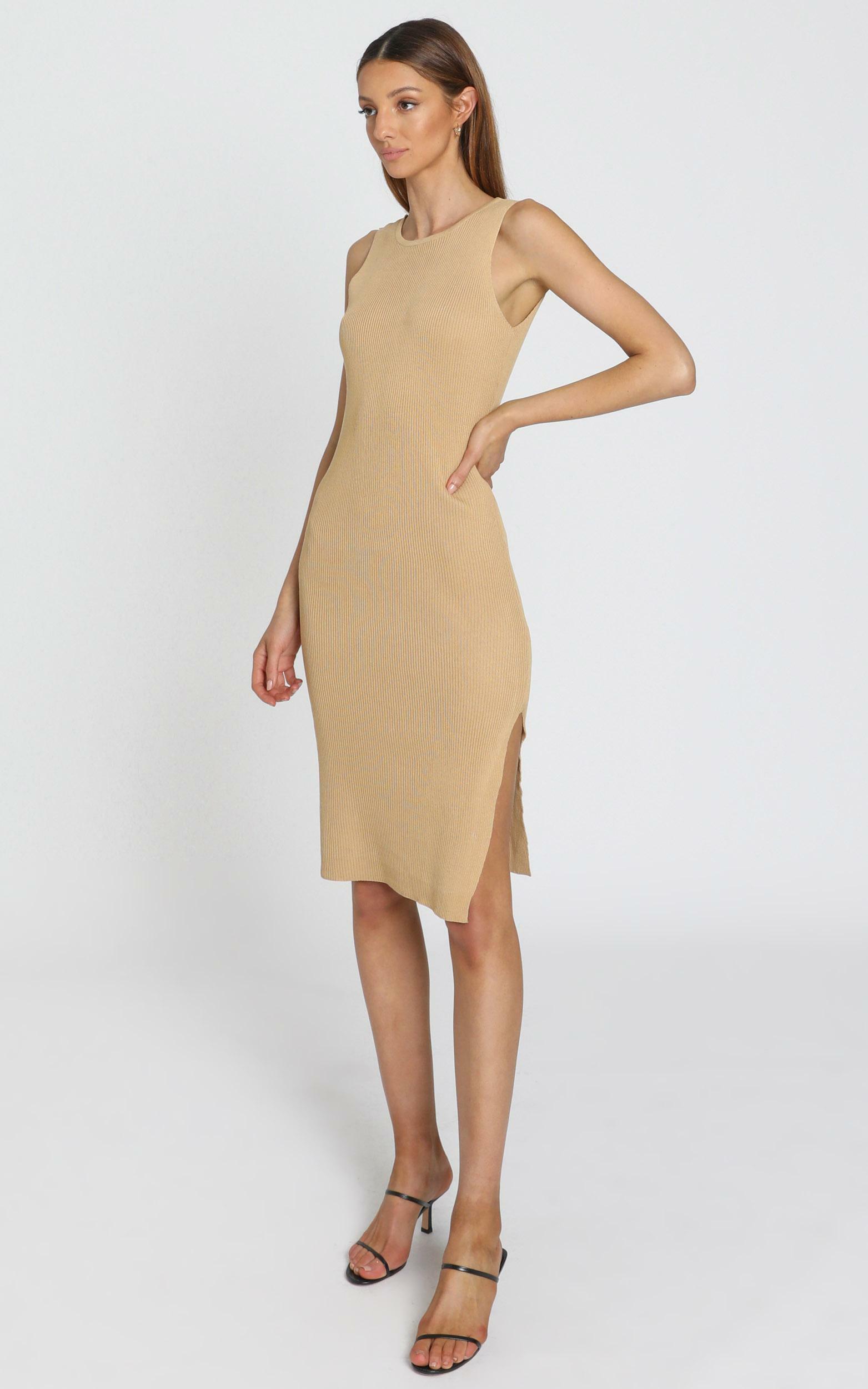 Callan Knit Dress in Mocha - M/L, Mocha, hi-res image number null