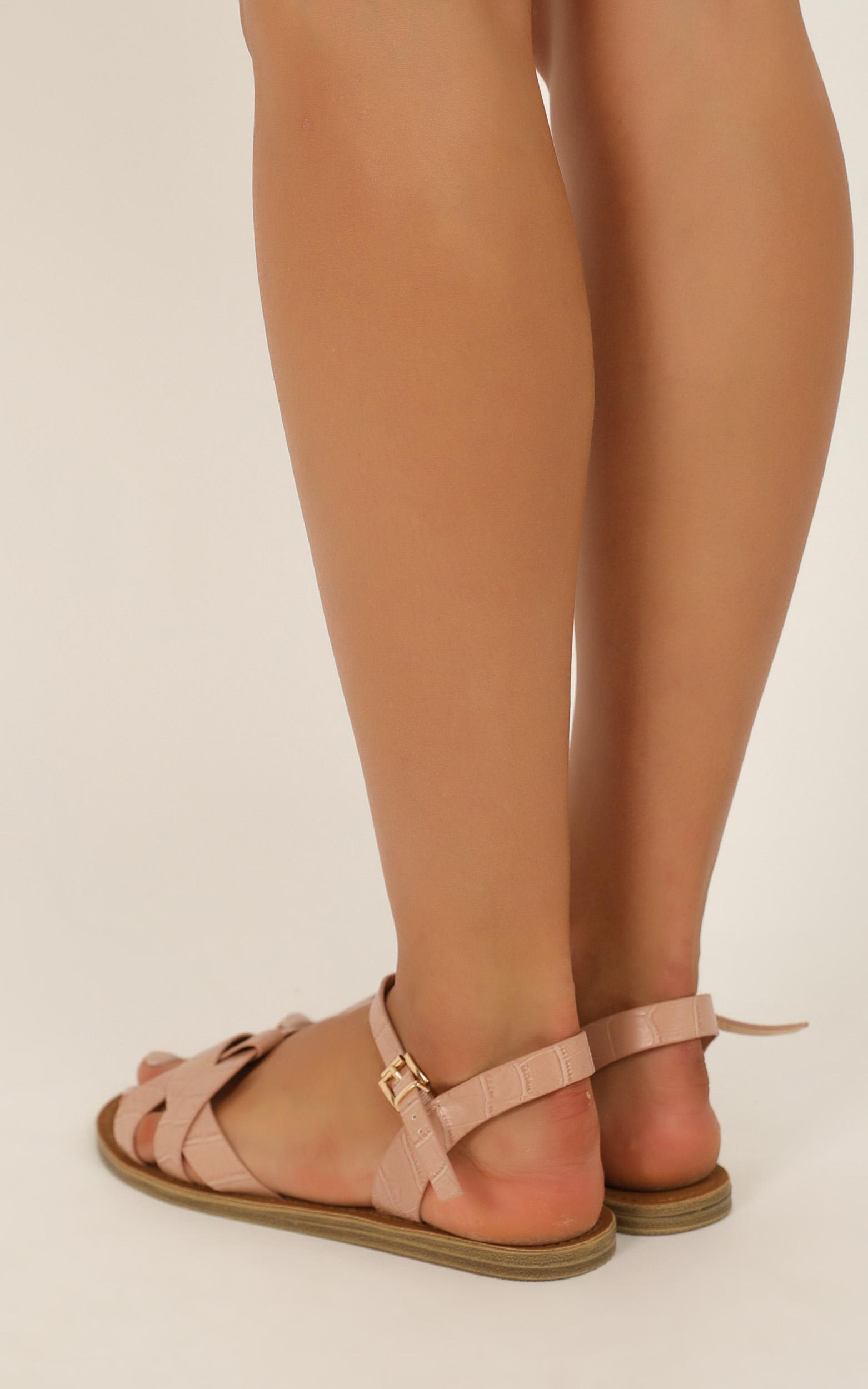 Verali - Toula Sandals in blush croc smooth - 10, Blush, hi-res image number null