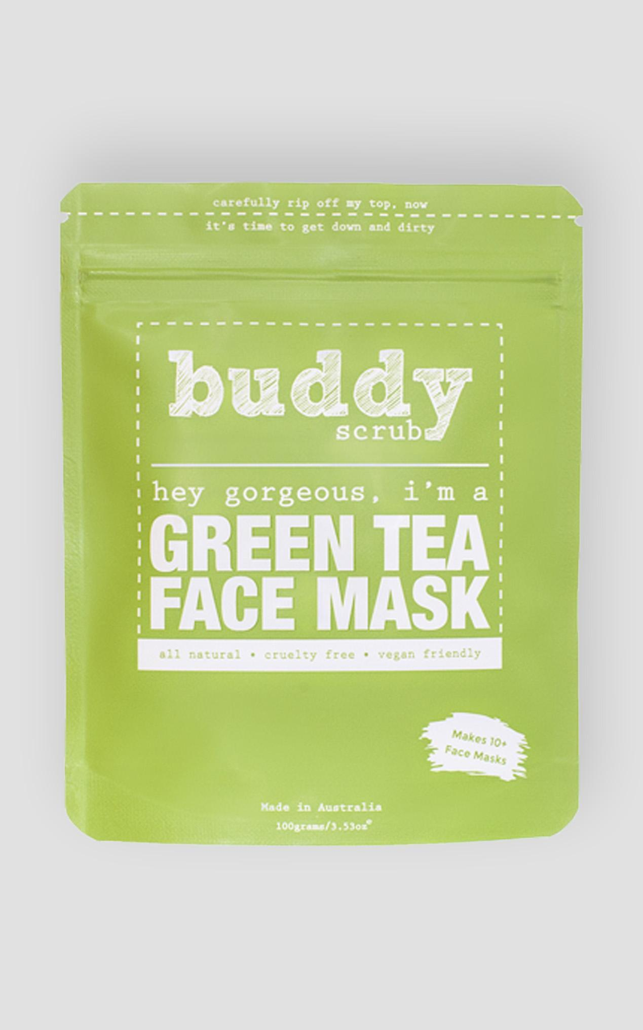 Buddy Scrub - Green Tea Face Mask , Green, hi-res image number null