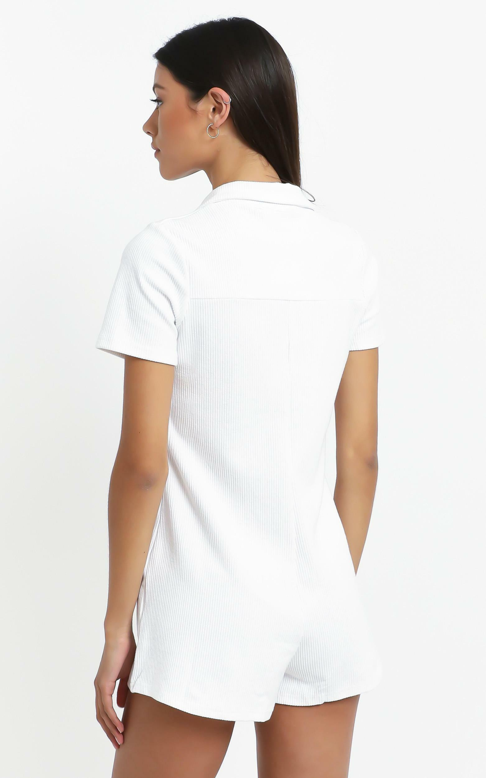 Olivette Playsuit in White - 14 (XL), White, hi-res image number null