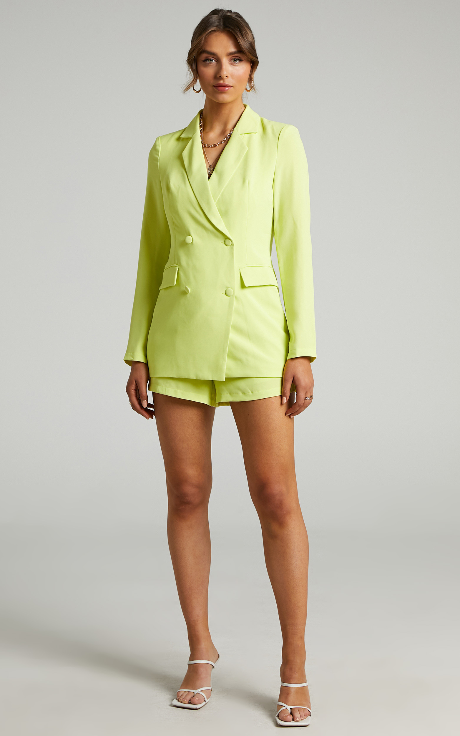 Quick To Win Blazer in Lime - 06, GRN2, hi-res image number null