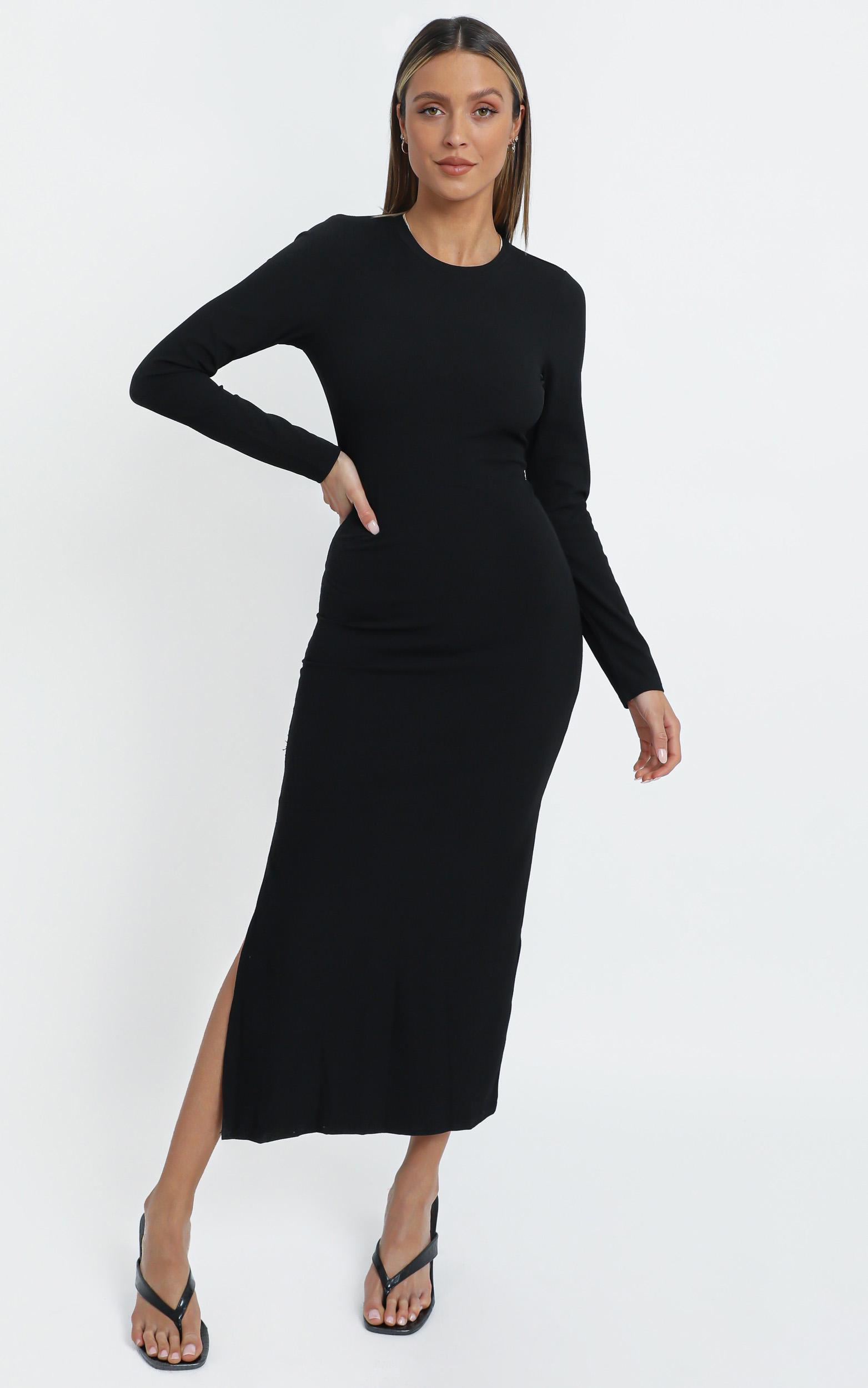 Kai Dress in Black - 14 (XL), Black, hi-res image number null