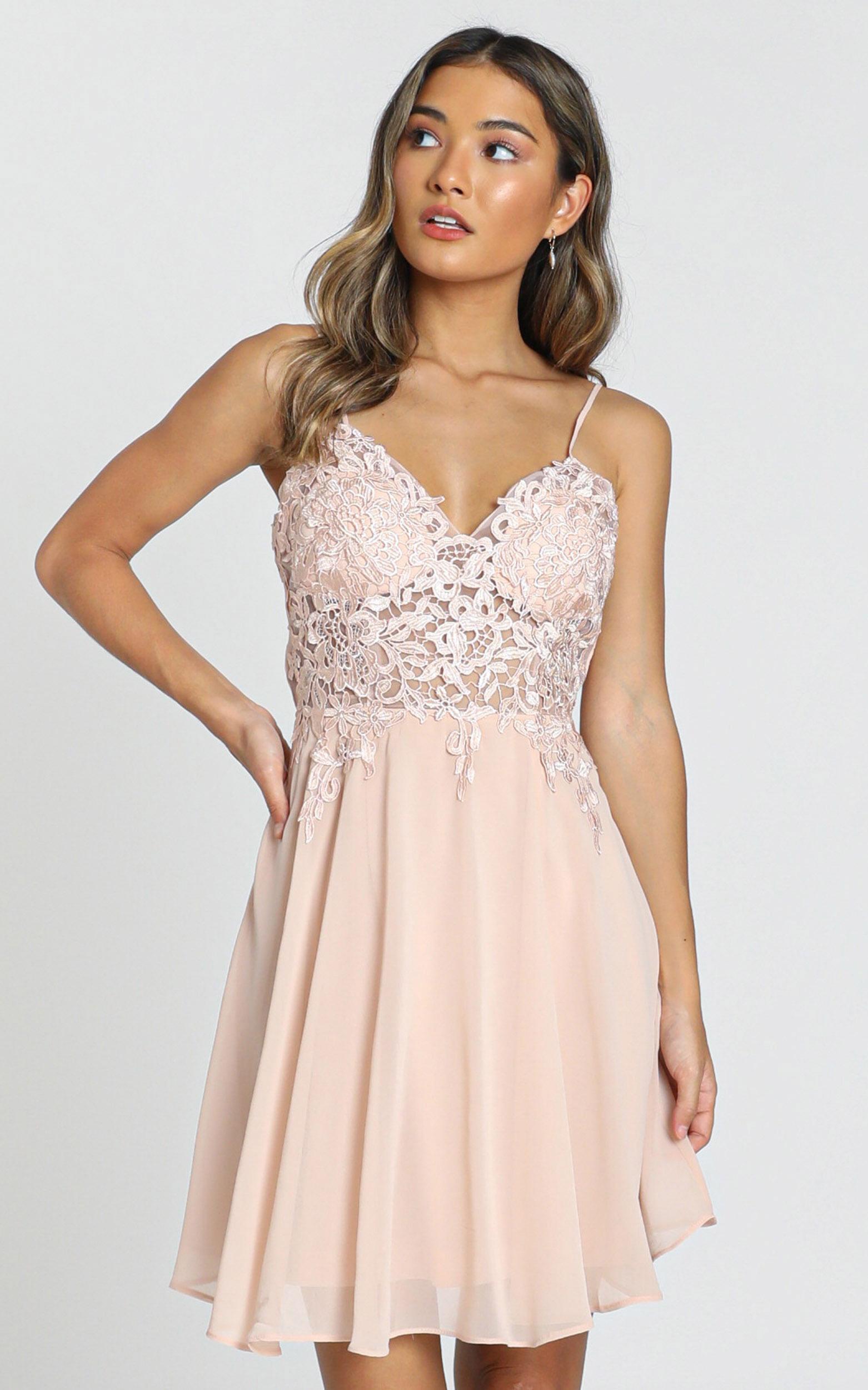 Tough Act dress in blush - 8 (S), Blush, hi-res image number null