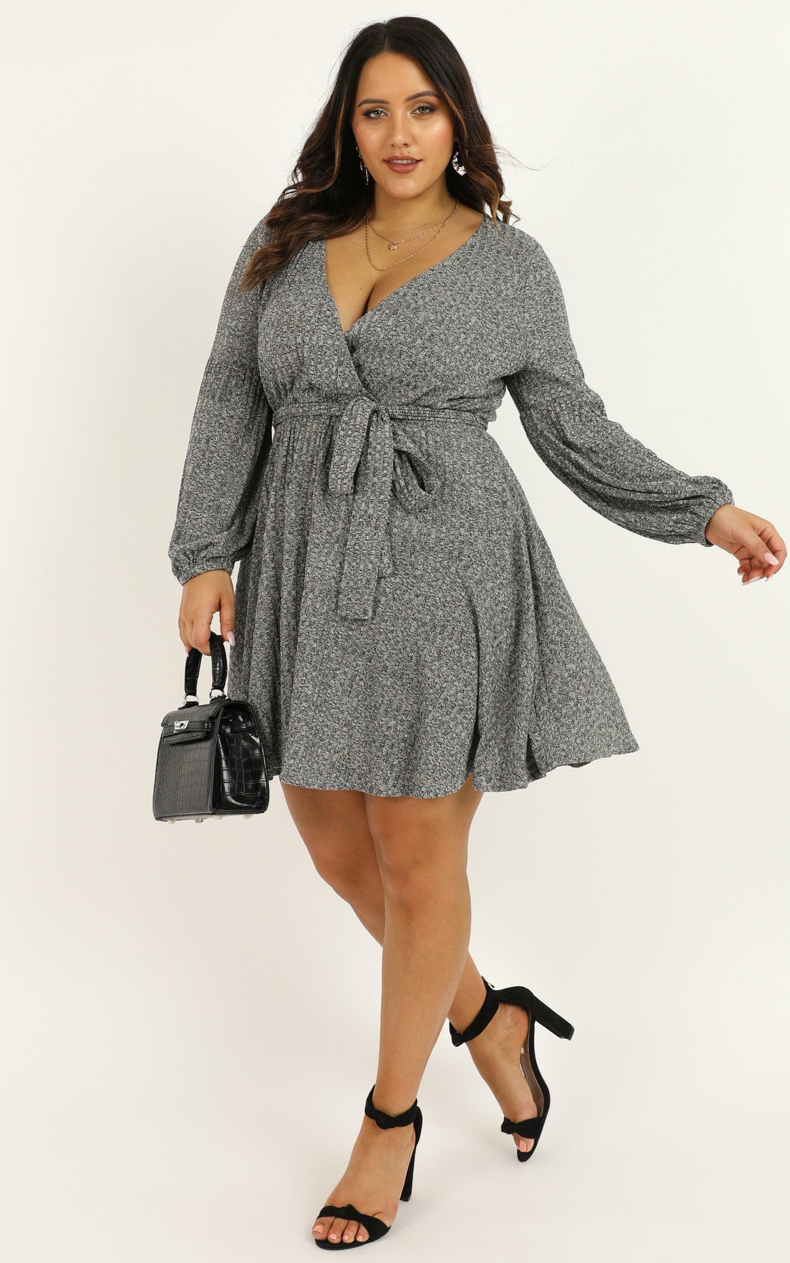 My Own Hero Dress in grey - 20 (XXXXL), Grey, hi-res image number null