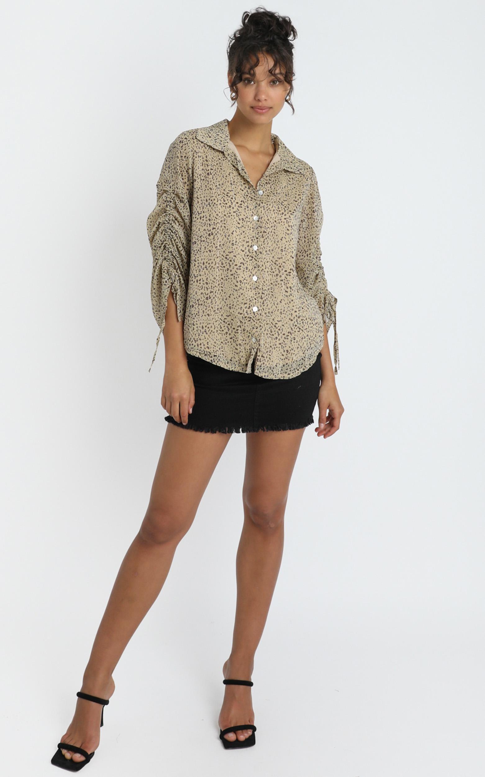 California Numb denim skirt in black - 14 (XL), Black, hi-res image number null