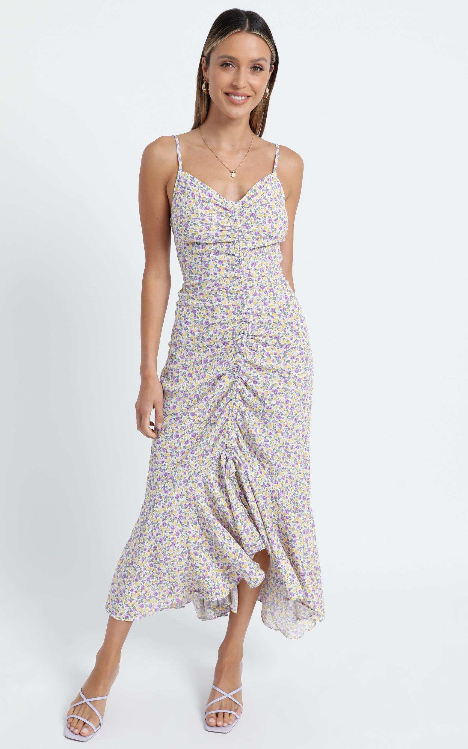 Meyers Dress in Lilac Floral - 6 (XS), Purple, hi-res image number null