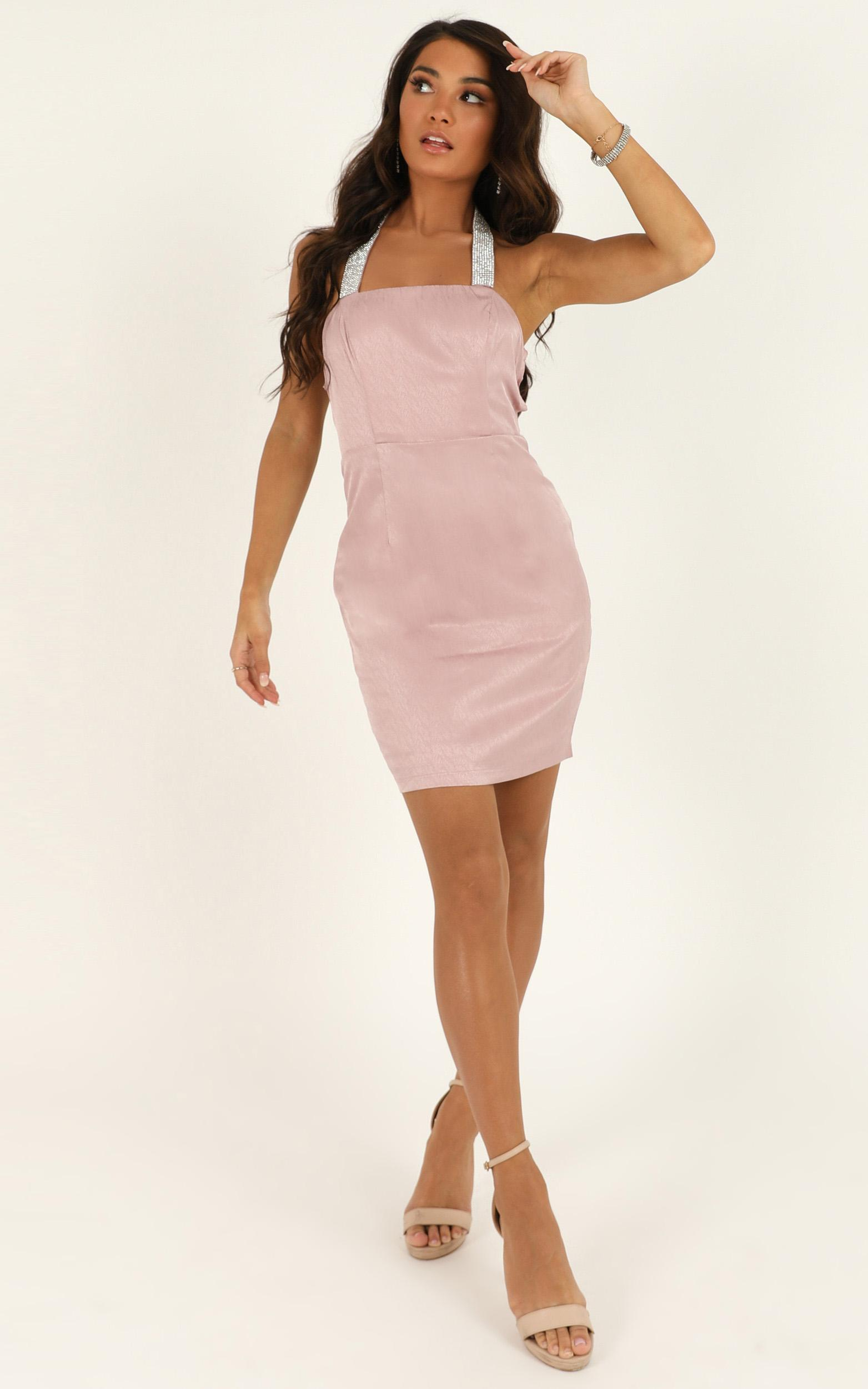 Let Me Love You Babe Dress in blush sequin - 12 (L), Blush, hi-res image number null