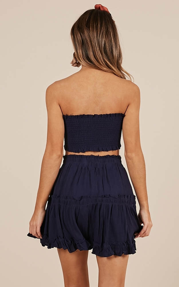 Outside the Line two piece set in navy - 14 (XL), Navy, hi-res image number null