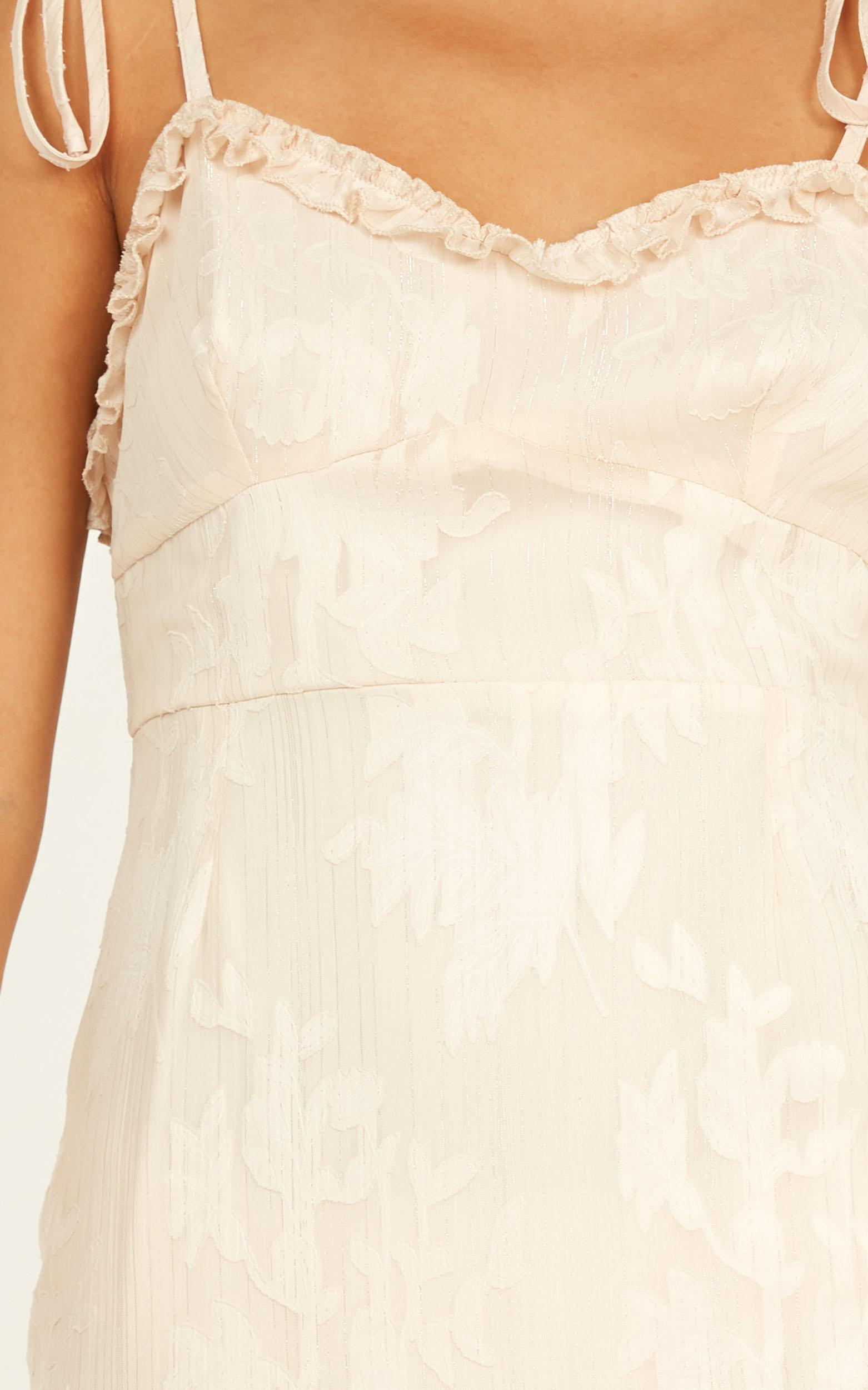 Friends For Evs Dress In Cream Burnout - 20 (XXXXL), Cream, hi-res image number null
