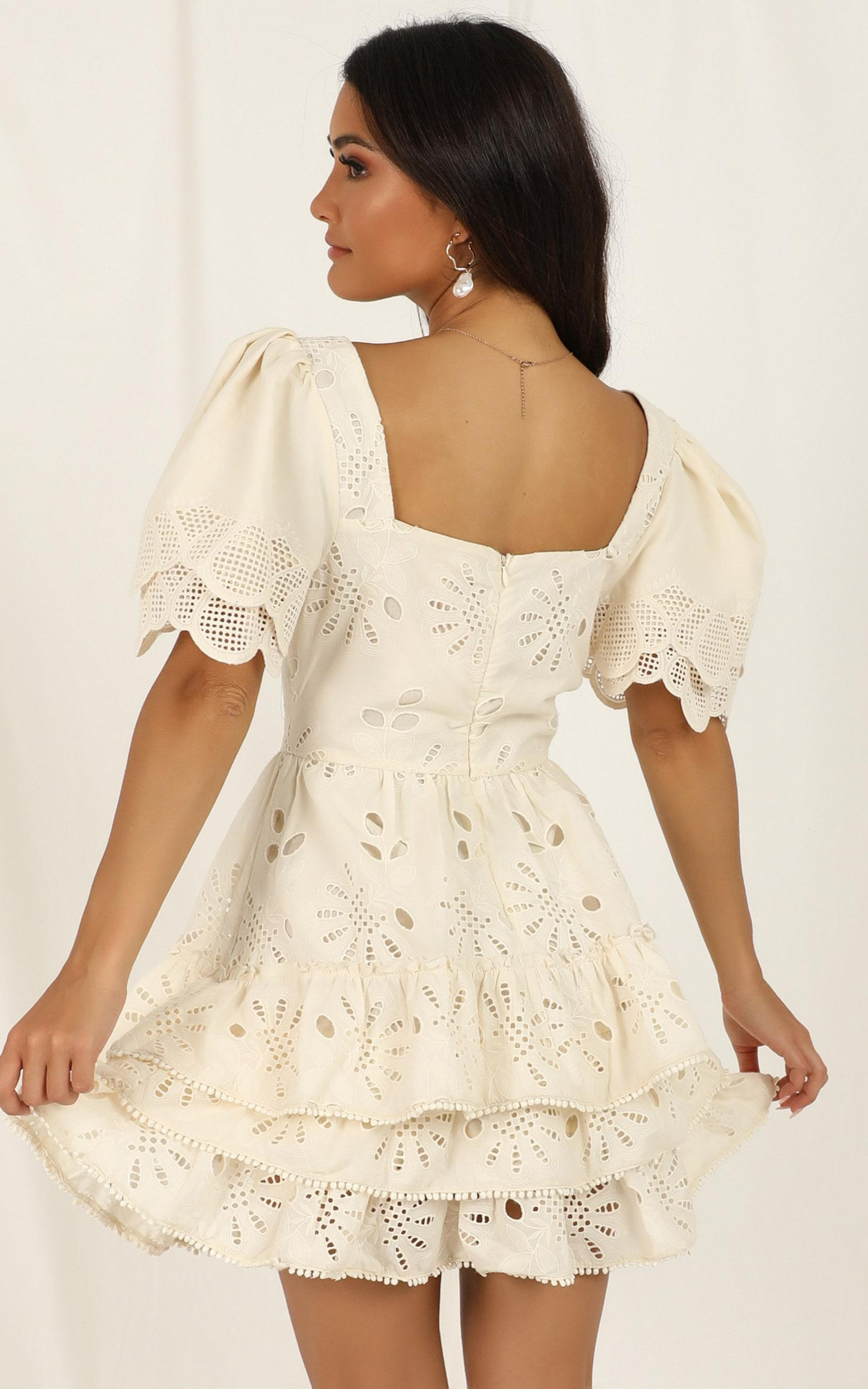 Back To The Island dress in cream lace - 12 (L), Cream, hi-res image number null