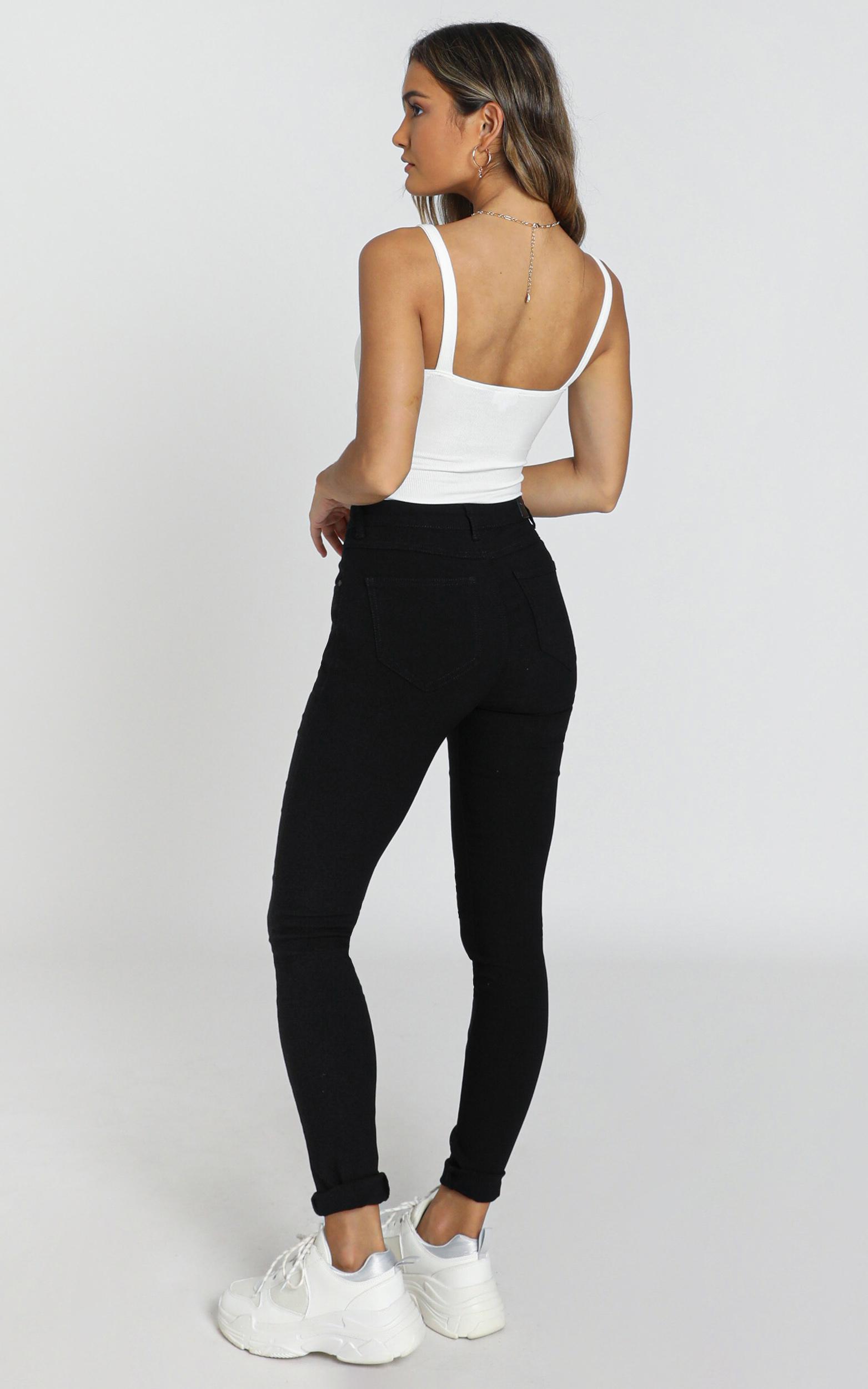 Deb Jeans in black - 8 (S), Black, hi-res image number null