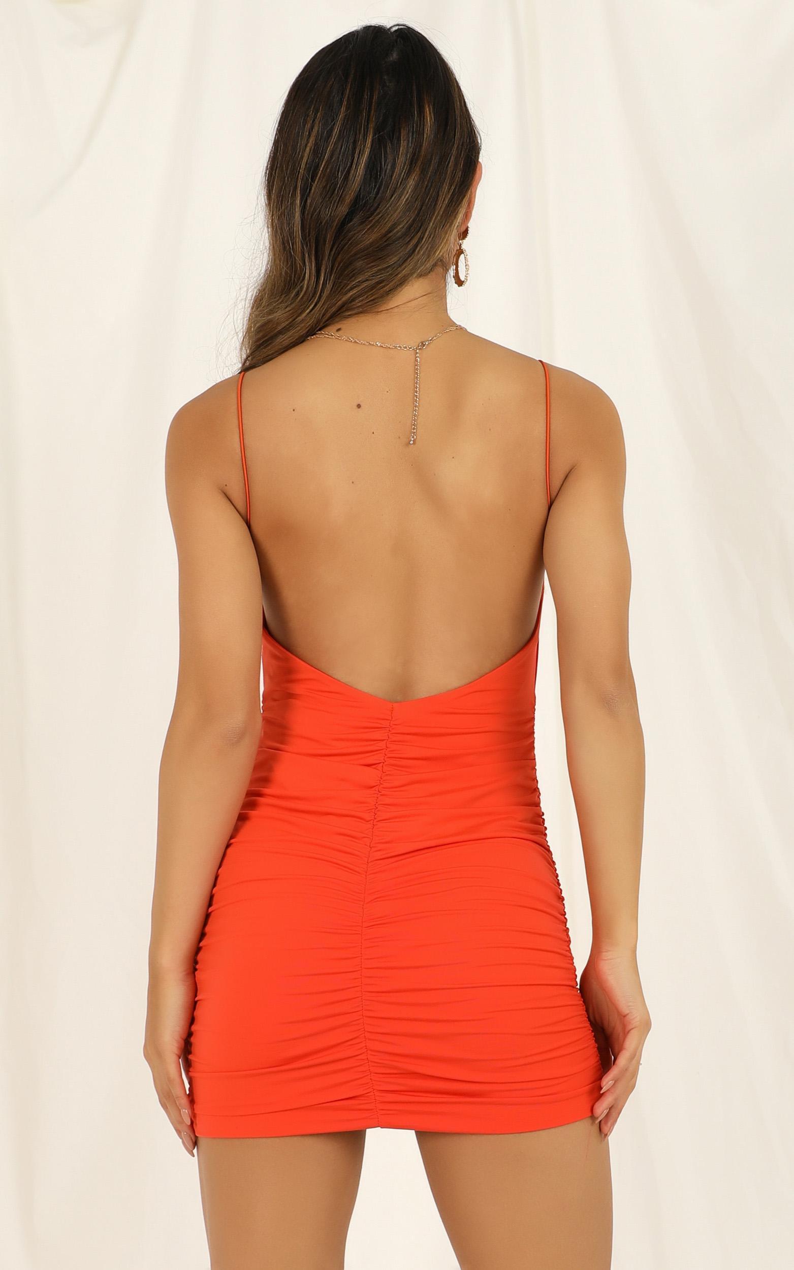 World Of Love Dress In tangerine - 16 (XXL), Orange, hi-res image number null