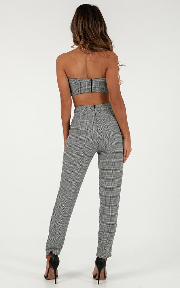 Bad And Boujee Two Piece Set In Black Houndstooth  - 18 (XXXL), Black, hi-res image number null