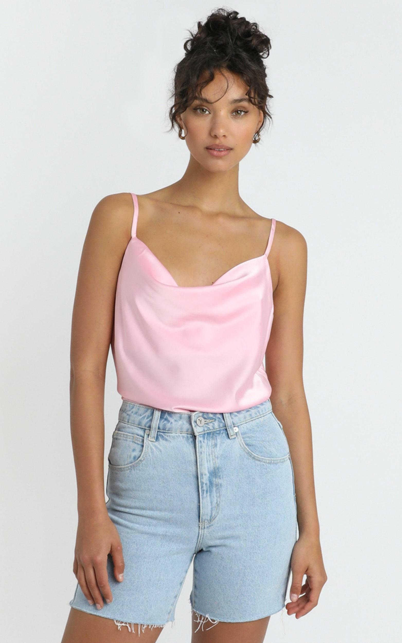 Straight Line Top in soft pink - 4 (XXS), PNK1, hi-res image number null