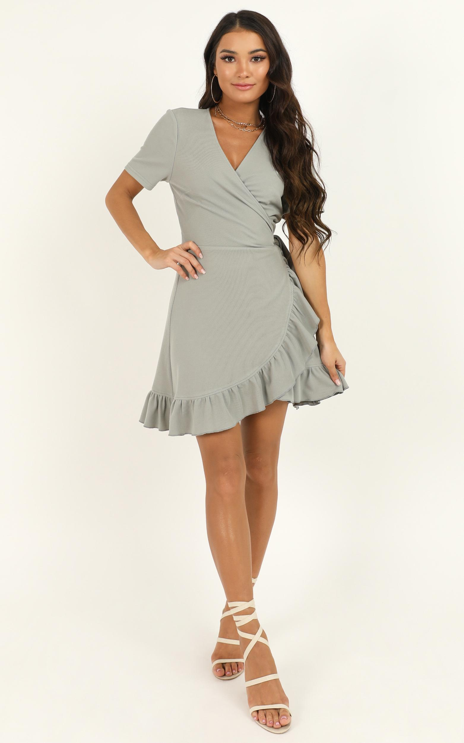 This is Happening Dress in sage - 4 (XXS), Sage, hi-res image number null