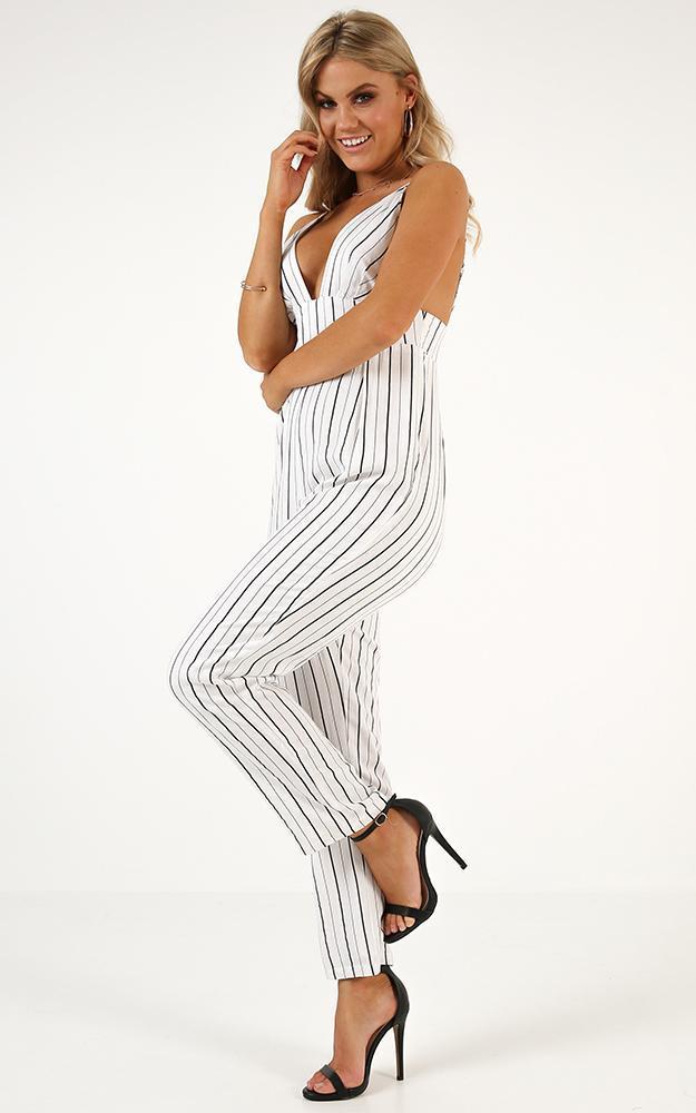 Love You Like That Jumpsuit in black stripe - 14 (XL), Black, hi-res image number null