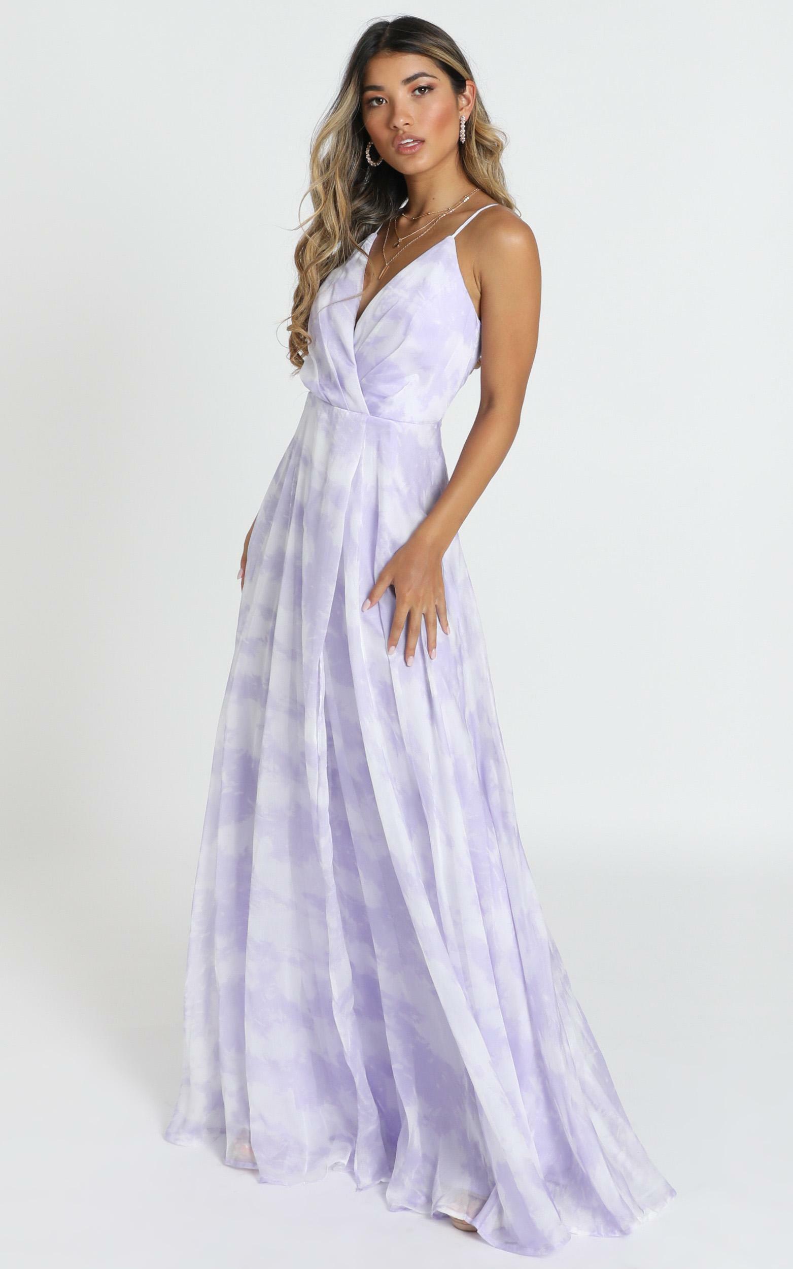 Cora maxi dress in lavender glitter - 12 (L), Purple, hi-res image number null