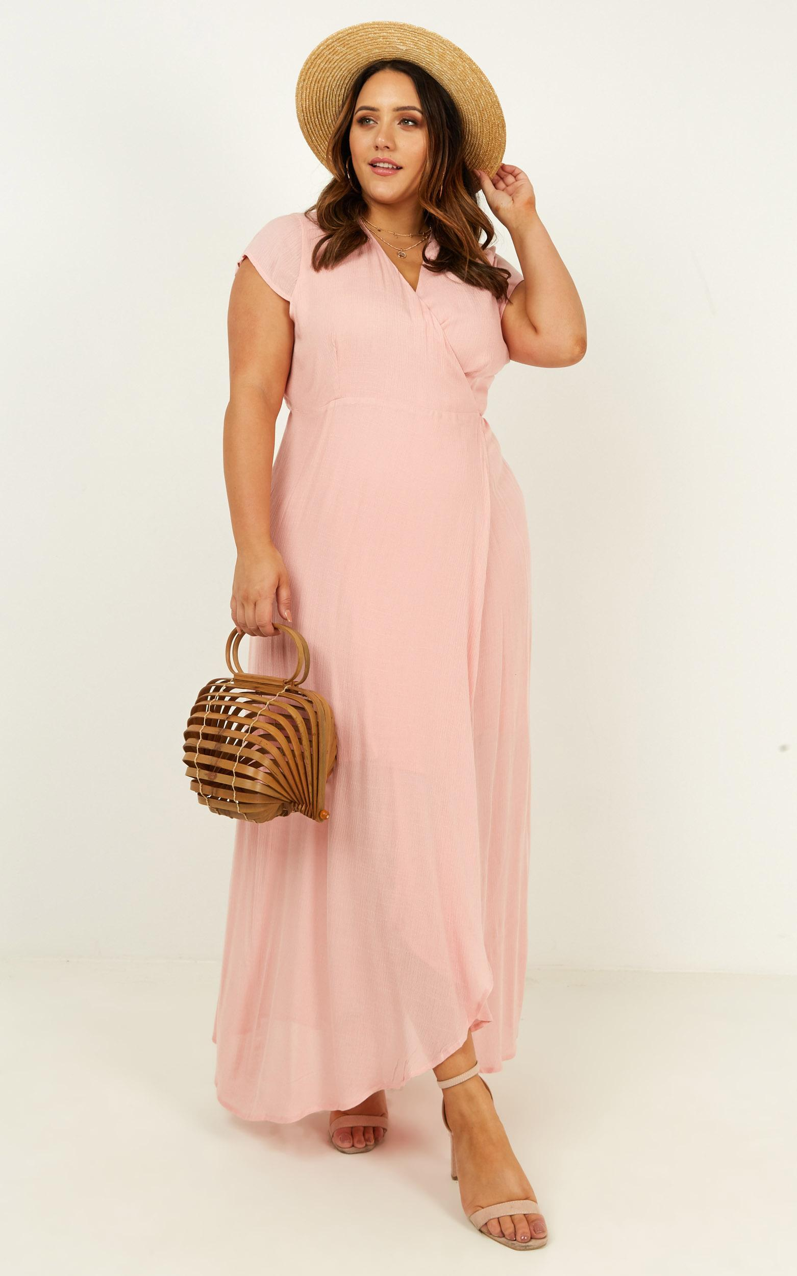 Paradise Looks Dress in blush linen look - 20 (XXXXL), Blush, hi-res image number null