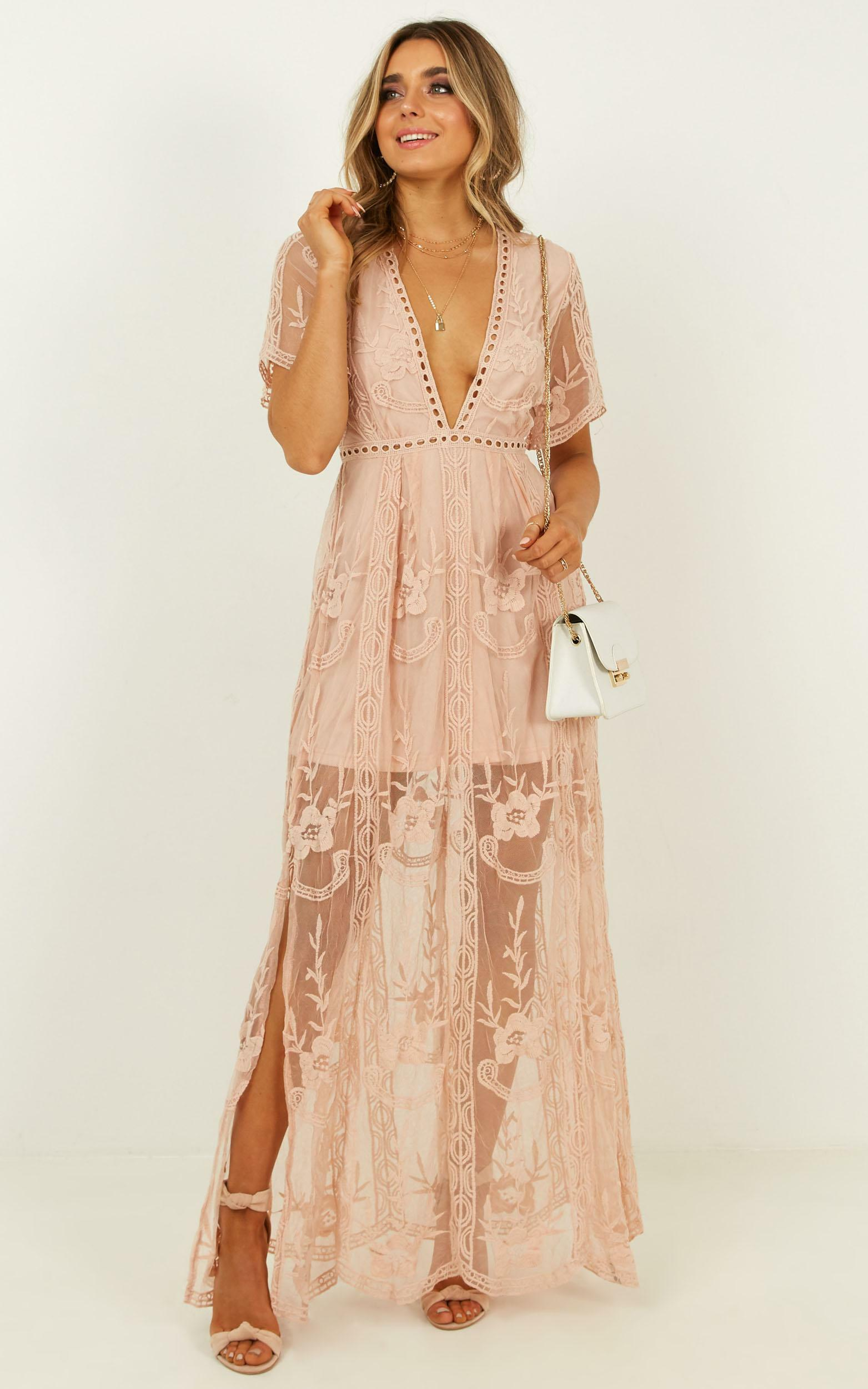 Love Spell maxi dress in blush lace - 20 (XXXXL), Blush, hi-res image number null