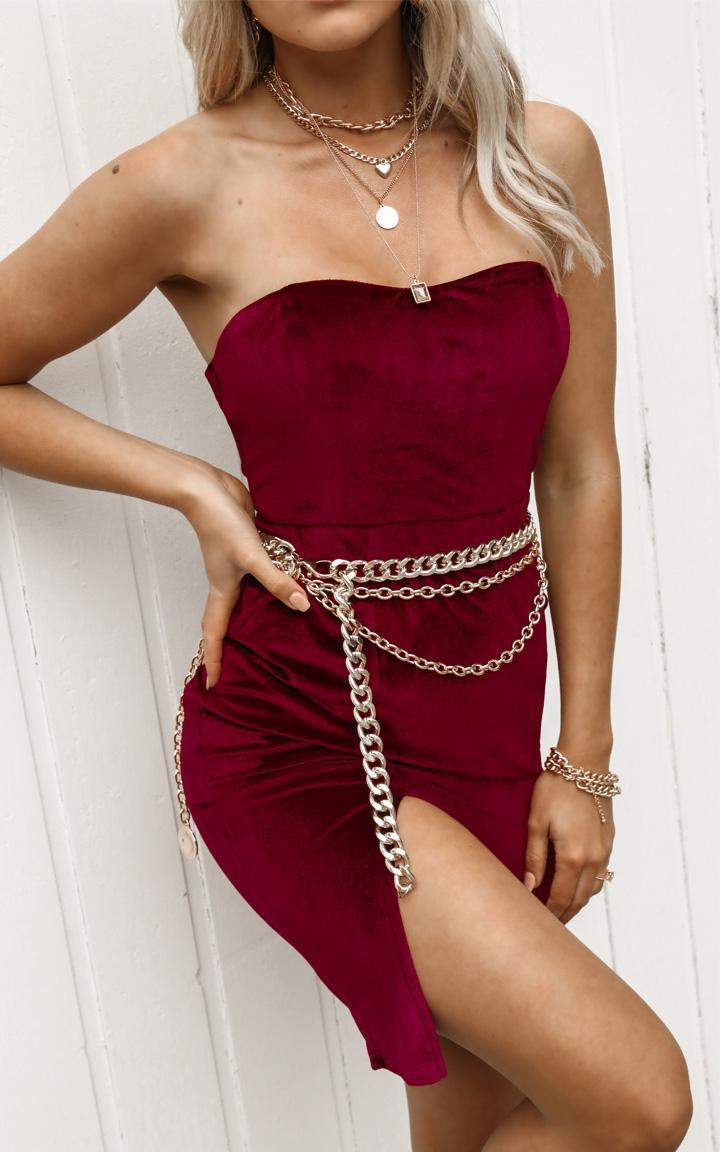 Angelic Love Dress in wine velvet - 20 (XXXXL), Wine, hi-res image number null