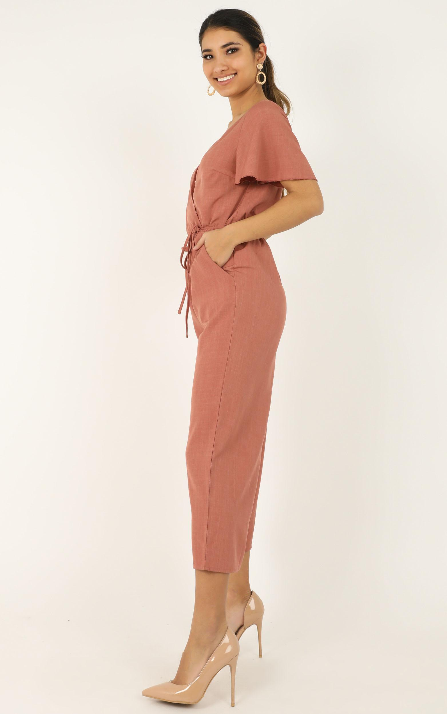 Clear Diary Jumpsuit in rose - 20 (XXXXL), Pink, hi-res image number null