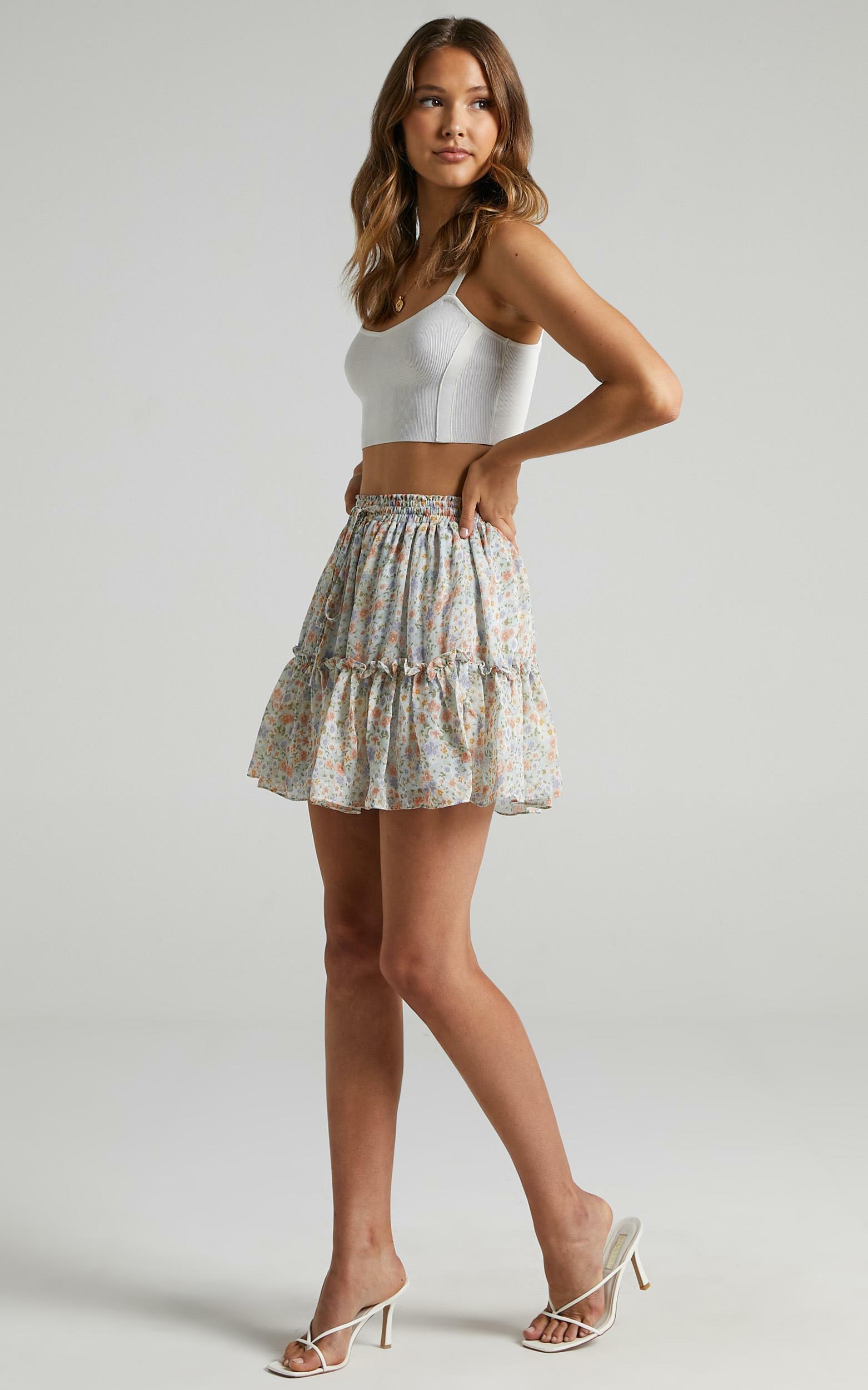 Monia Skirt in Multi Floral - 06, MLT1, hi-res image number null