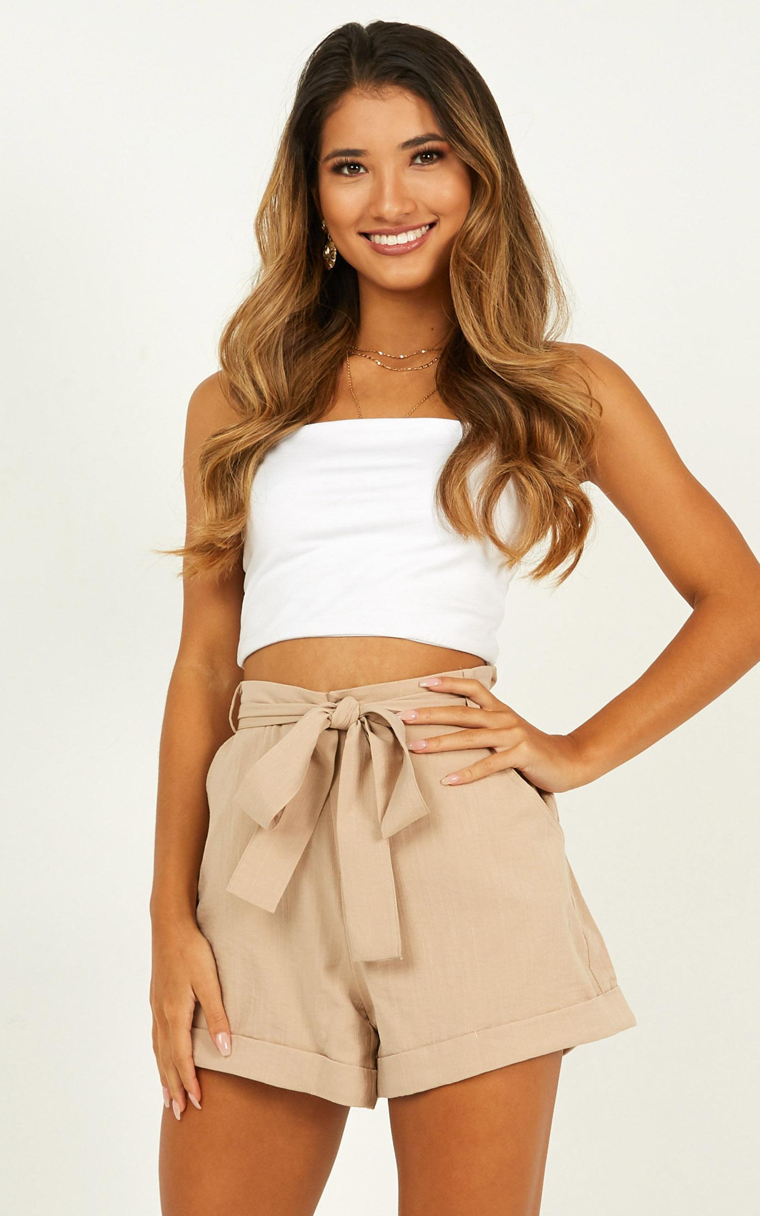 The First Time Shorts In beige - 20 (XXXXL), Beige, hi-res image number null