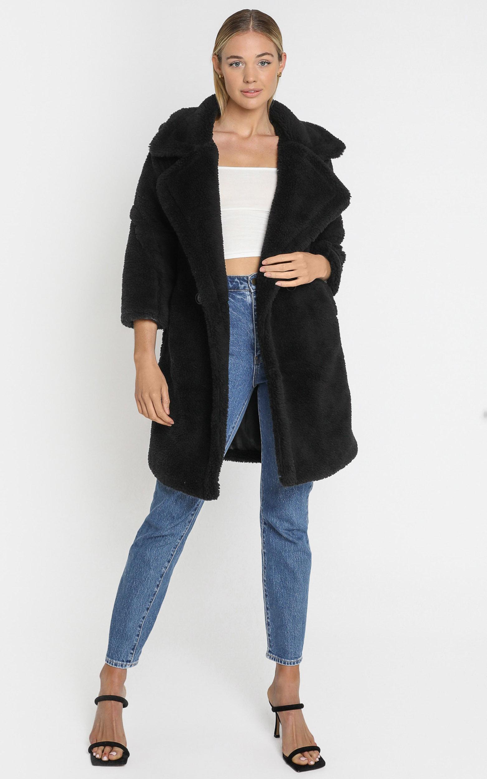 Olwen Coat in Black - S, Black, hi-res image number null
