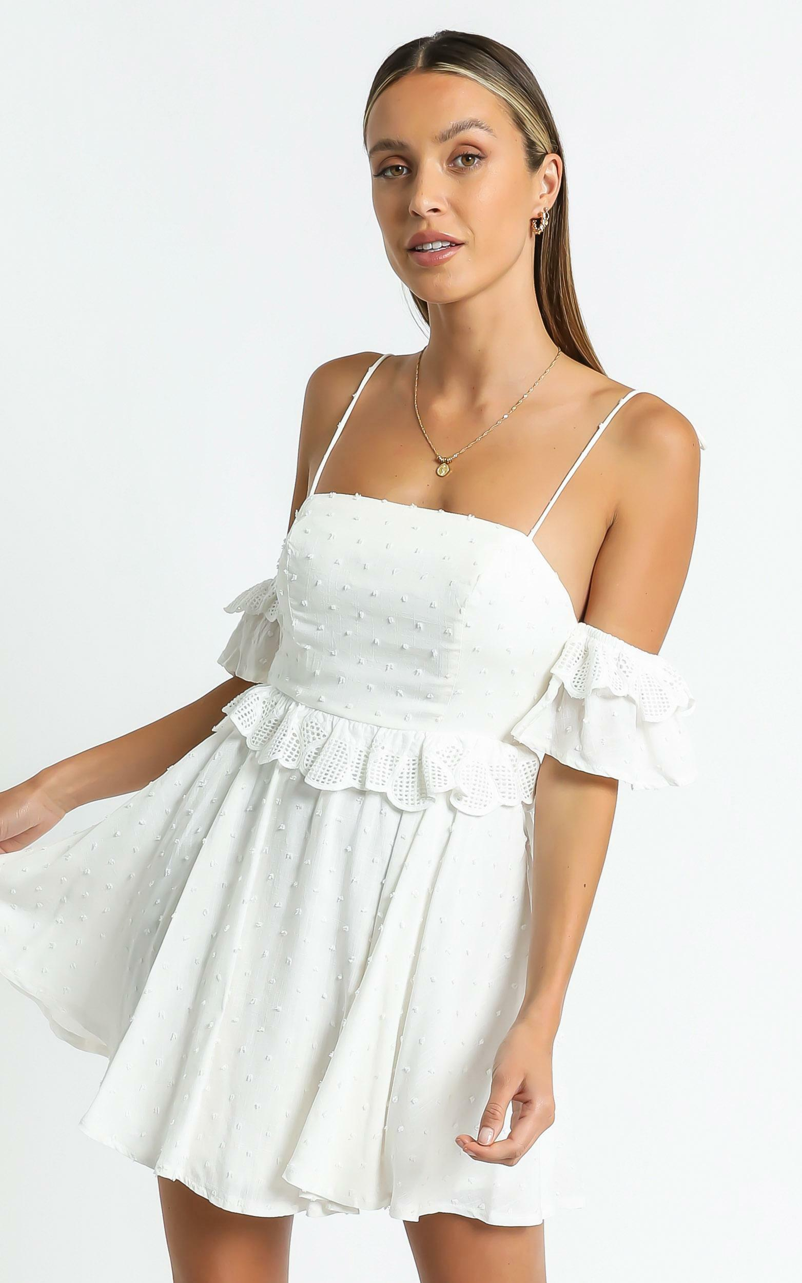Ziggy Dress in White - 6 (XS), White, hi-res image number null