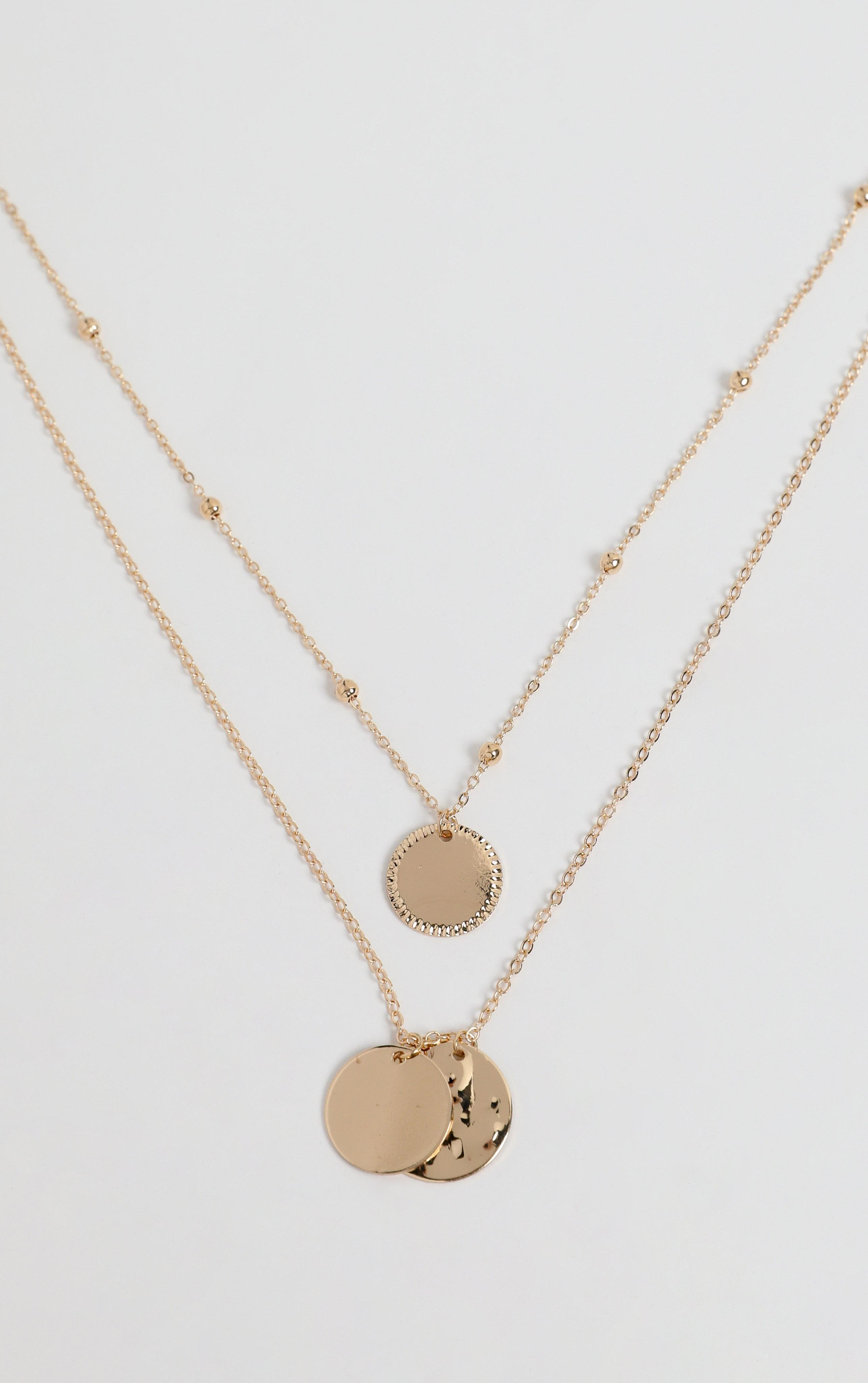 Danna Layered Necklace in Gold, , hi-res image number null