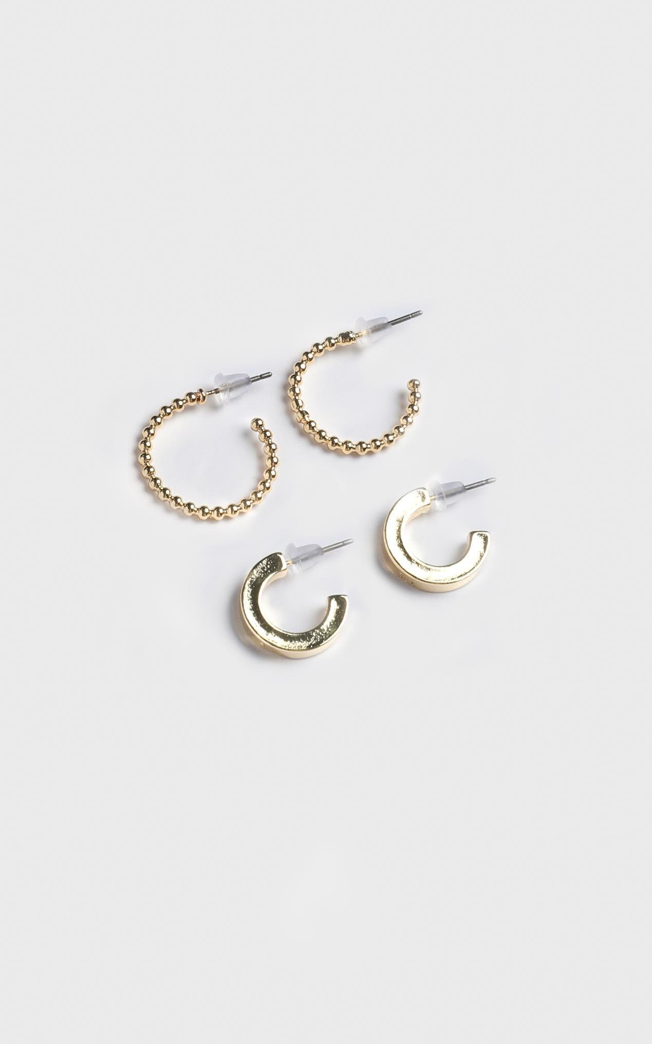 Minc Collections - Daylight Hoop Earrings Set In Gold, , hi-res image number null
