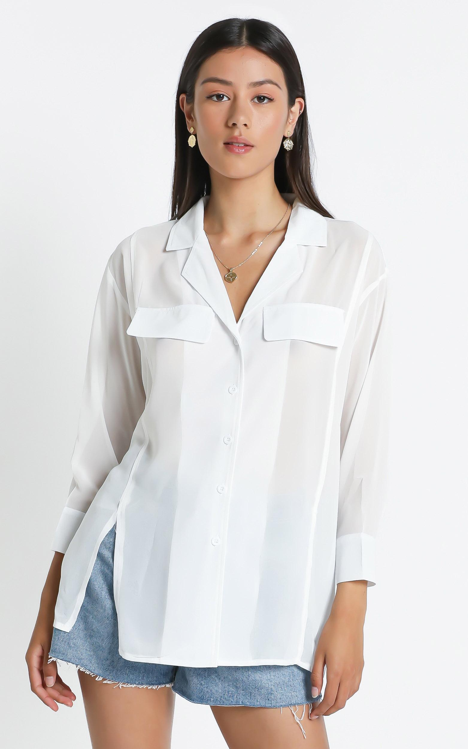 Gila Top in White - S/M, White, hi-res image number null