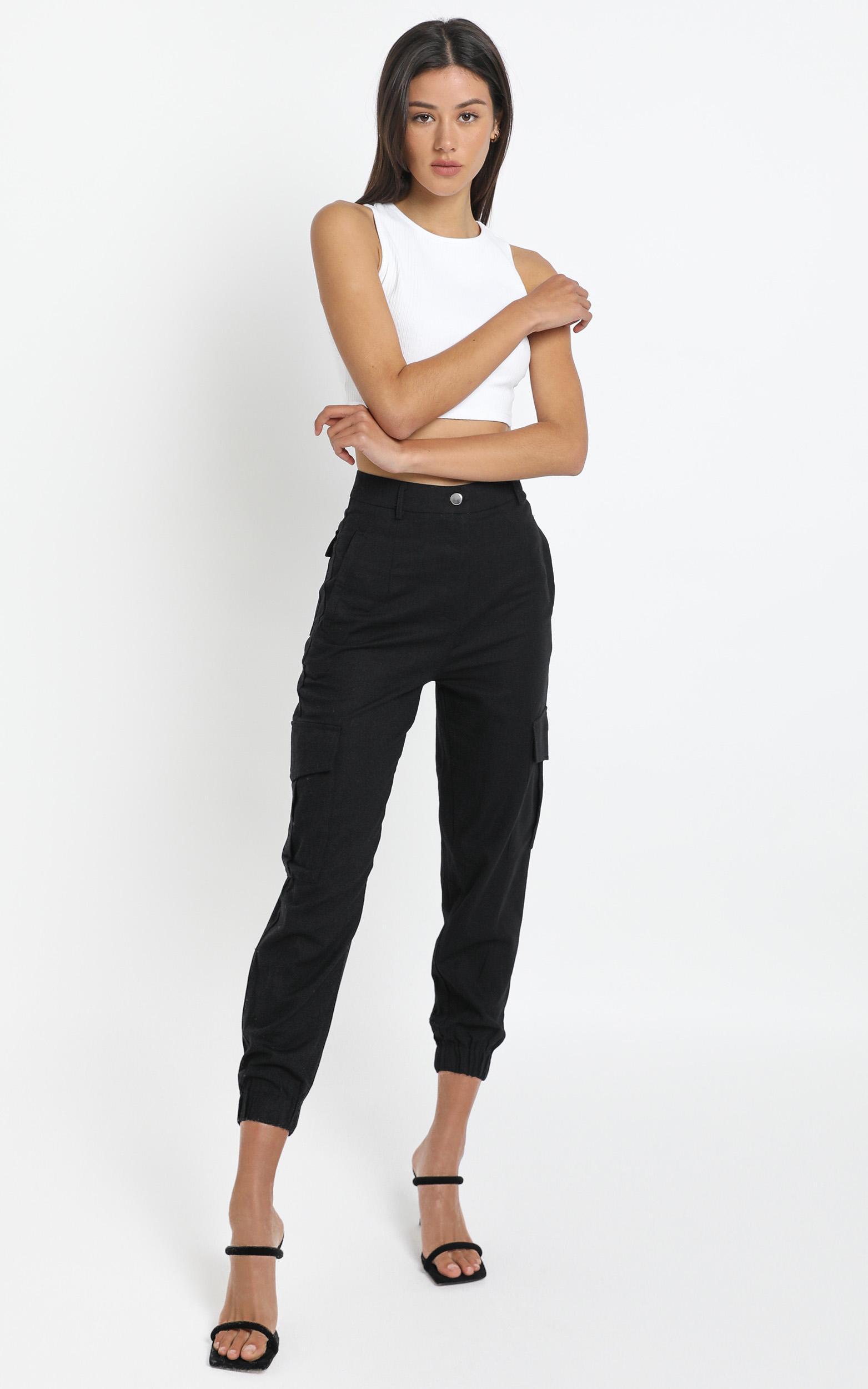 Kayla Pants in Black - 14 (XL), Black, hi-res image number null