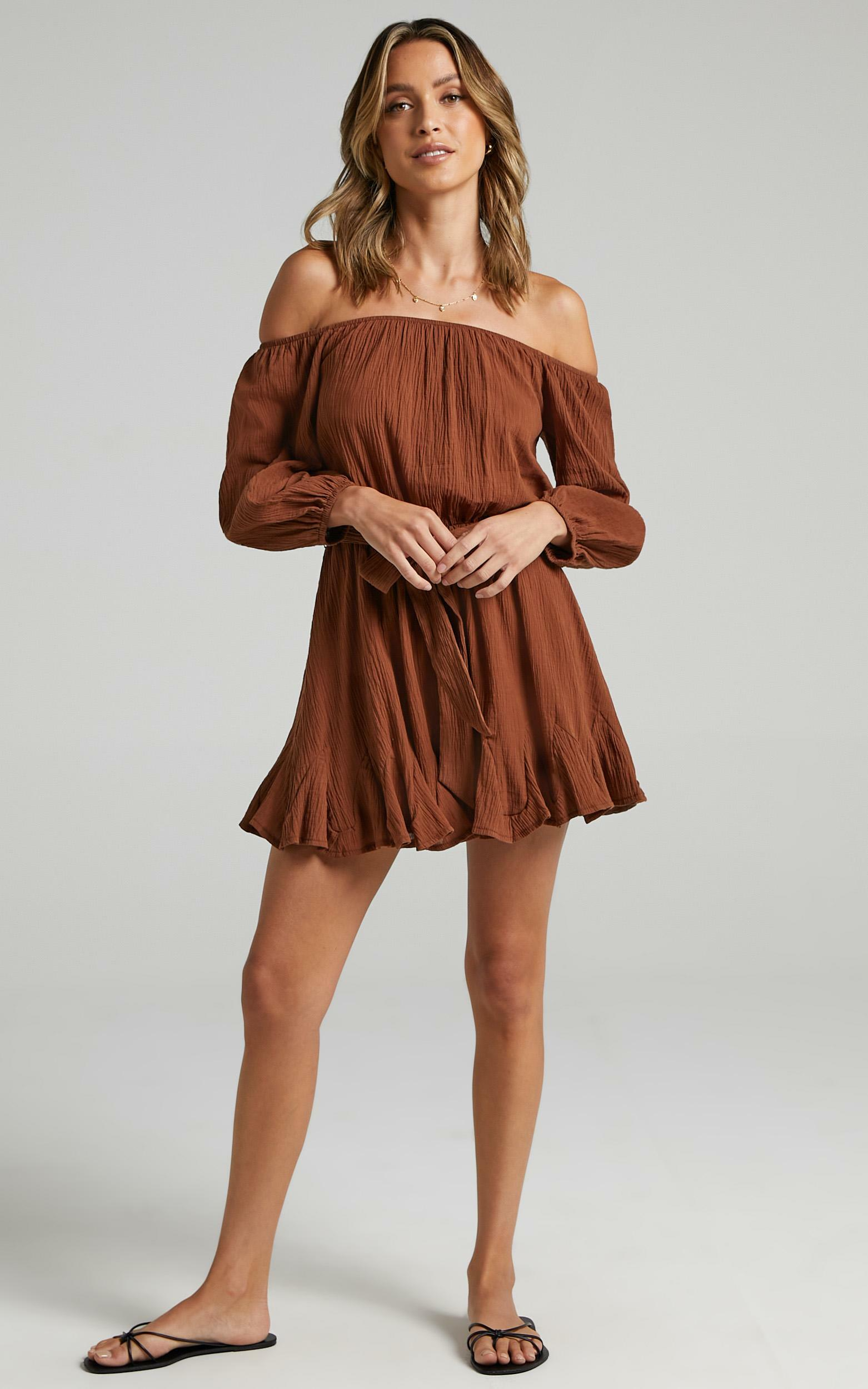 Madeira Dress in Chocolate - 06, BRN2, hi-res image number null