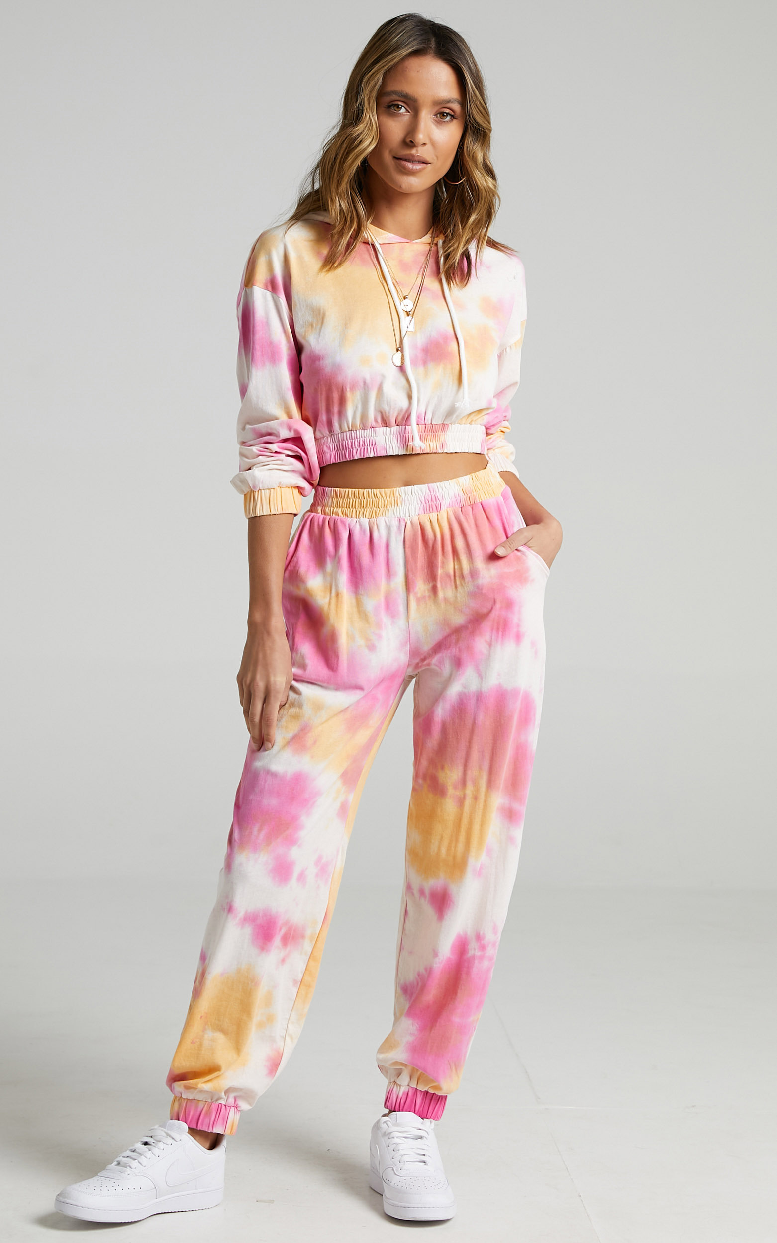 Lopez Two Piece Set in Pink Tie Dye - 6 (XS), Pink, hi-res image number null