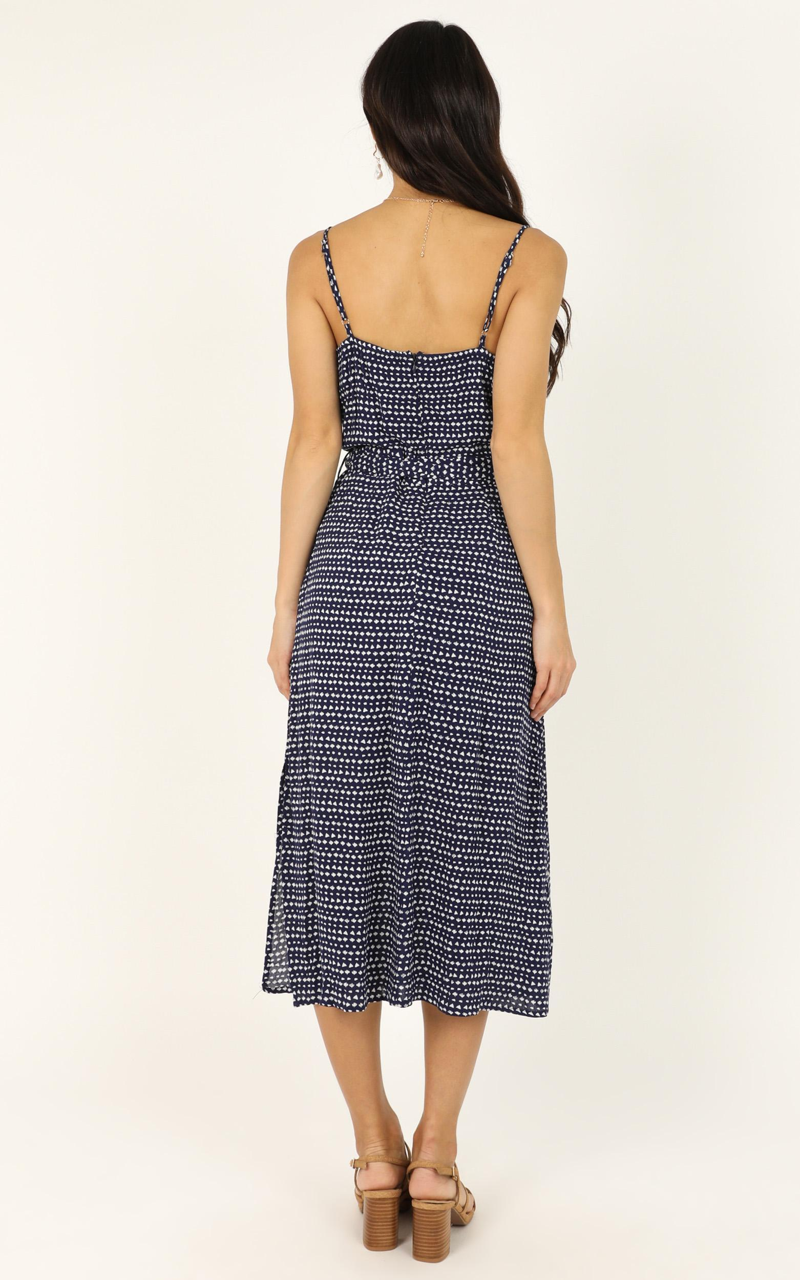 Keep Me Guessing dress in navy - 12 (L), Navy, hi-res image number null