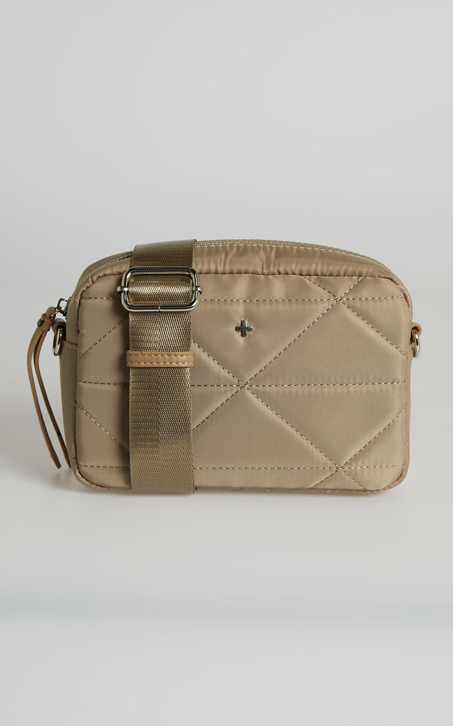 Peta and Jain - Pronto Bag in Cappuccino Nylon, Beige, hi-res image number null