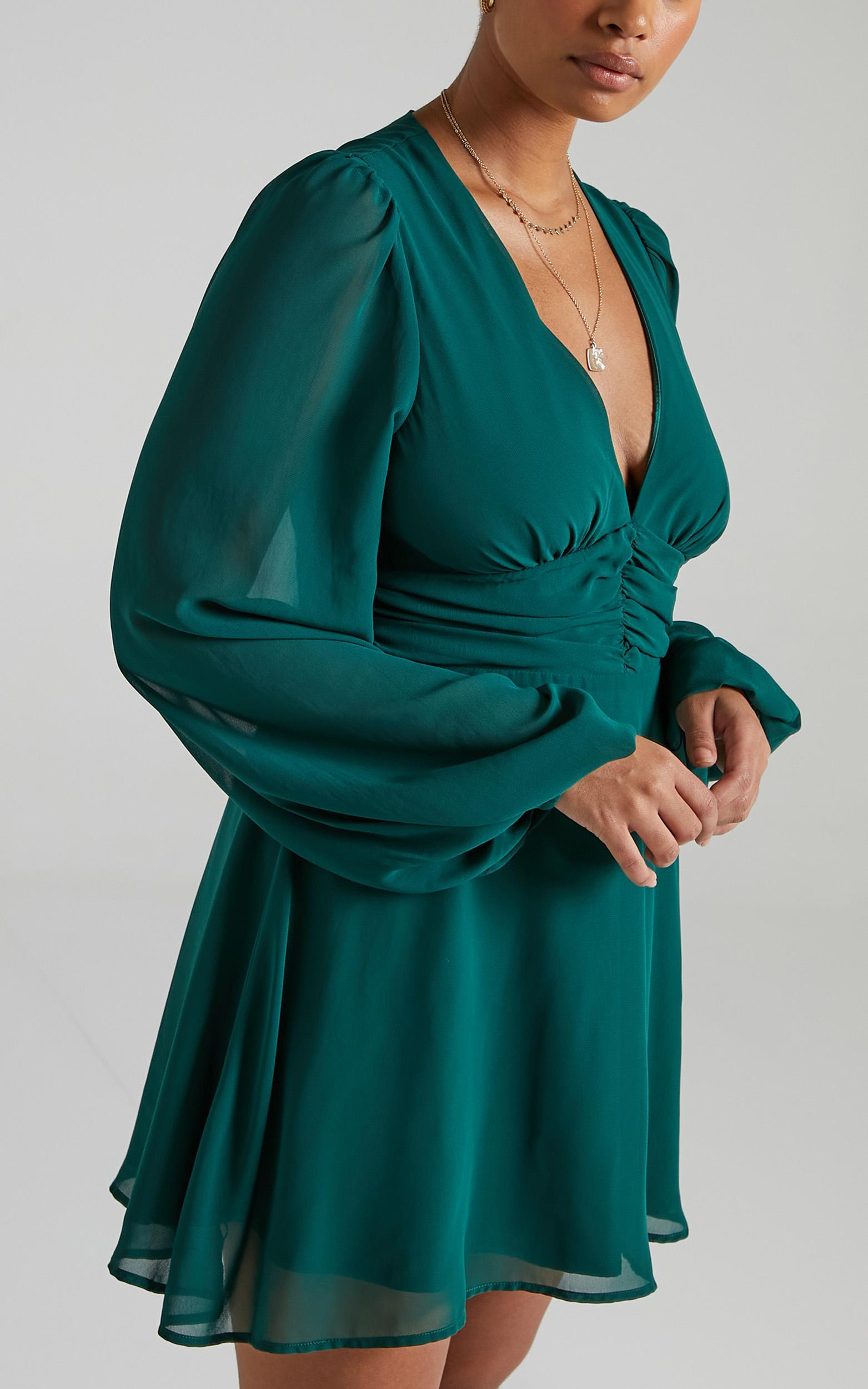 Sheanora Dress in Emerald - 6 (XS), GRN7, hi-res image number null